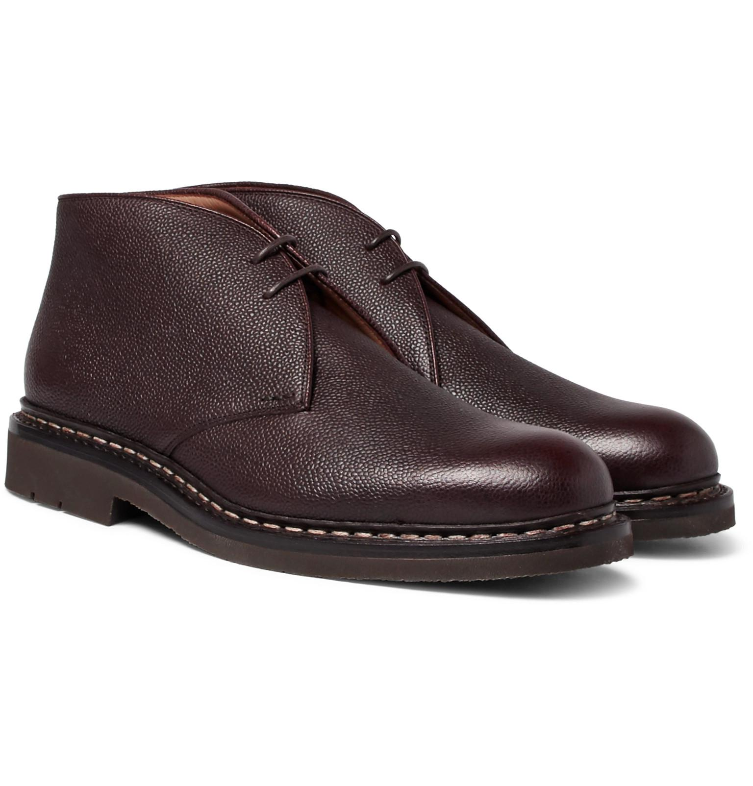 Mens Pin Grained Leather Boots Heschung nIzdEwuYah
