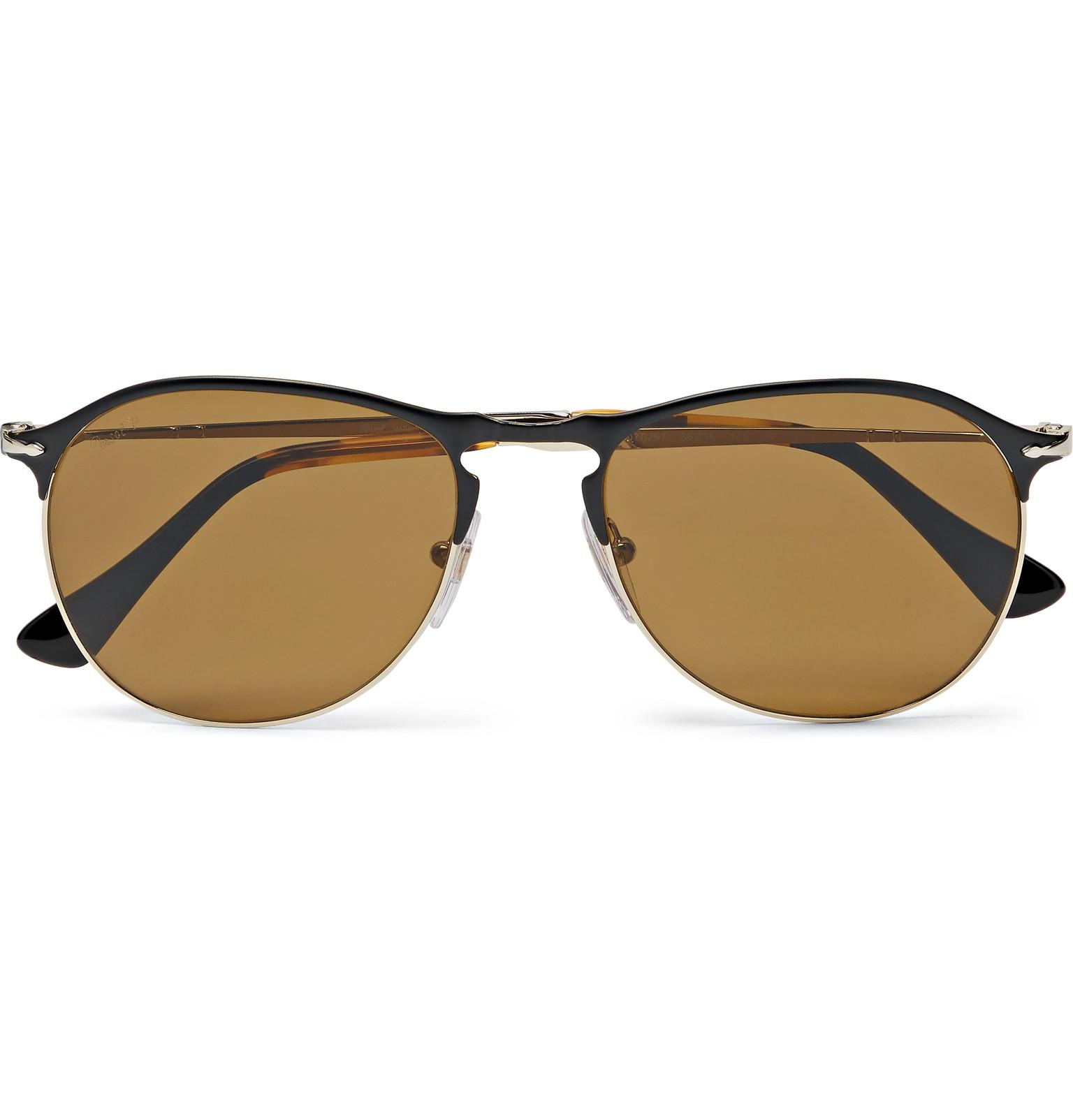 Persol Aviator-style Acetate Polarised Sunglasses - Black fi5aHEuQEg
