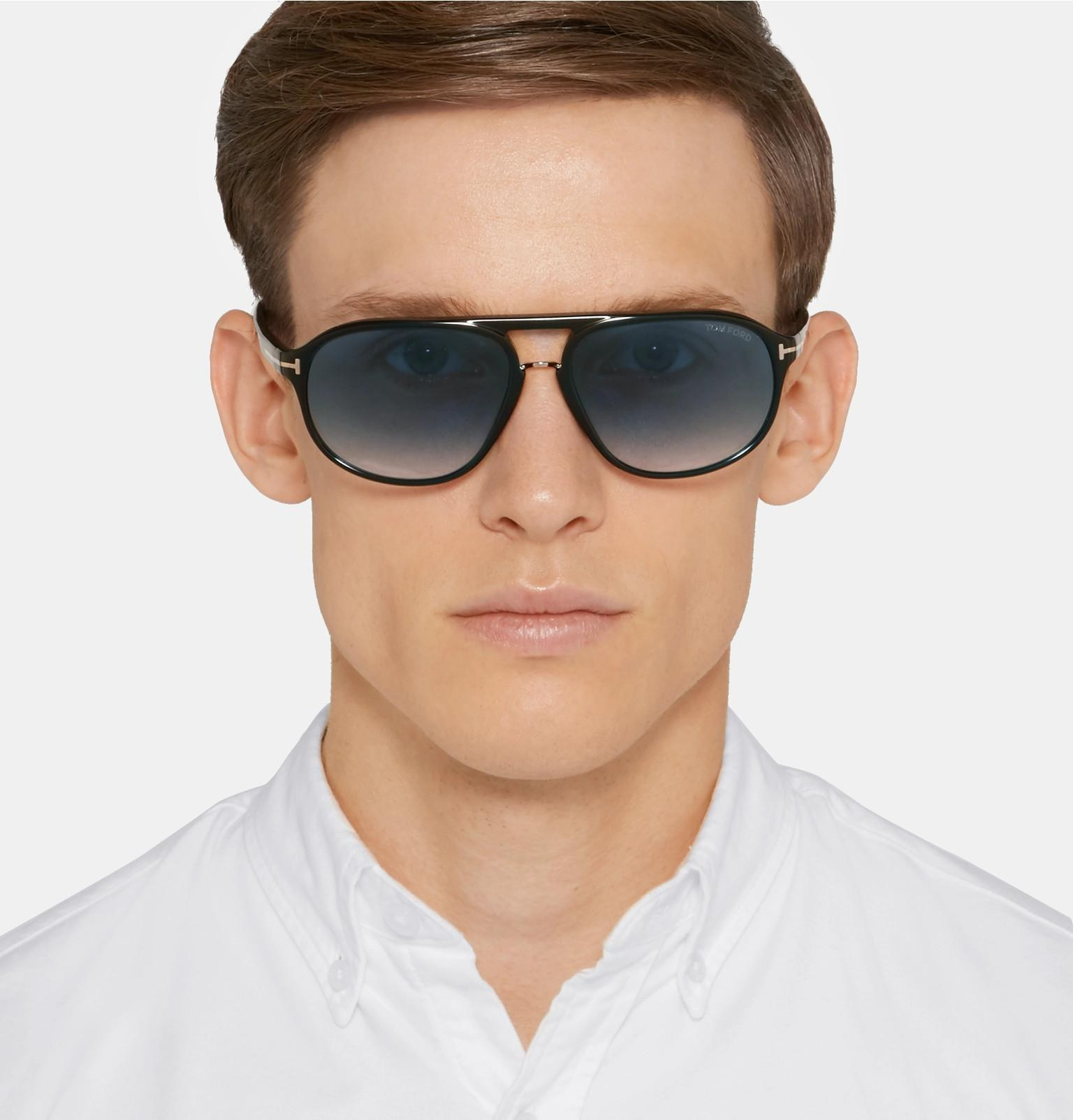 3bb5480d32c8 Tom Ford - Black Jacob Aviator-style Acetate Sunglasses for Men - Lyst.  View fullscreen