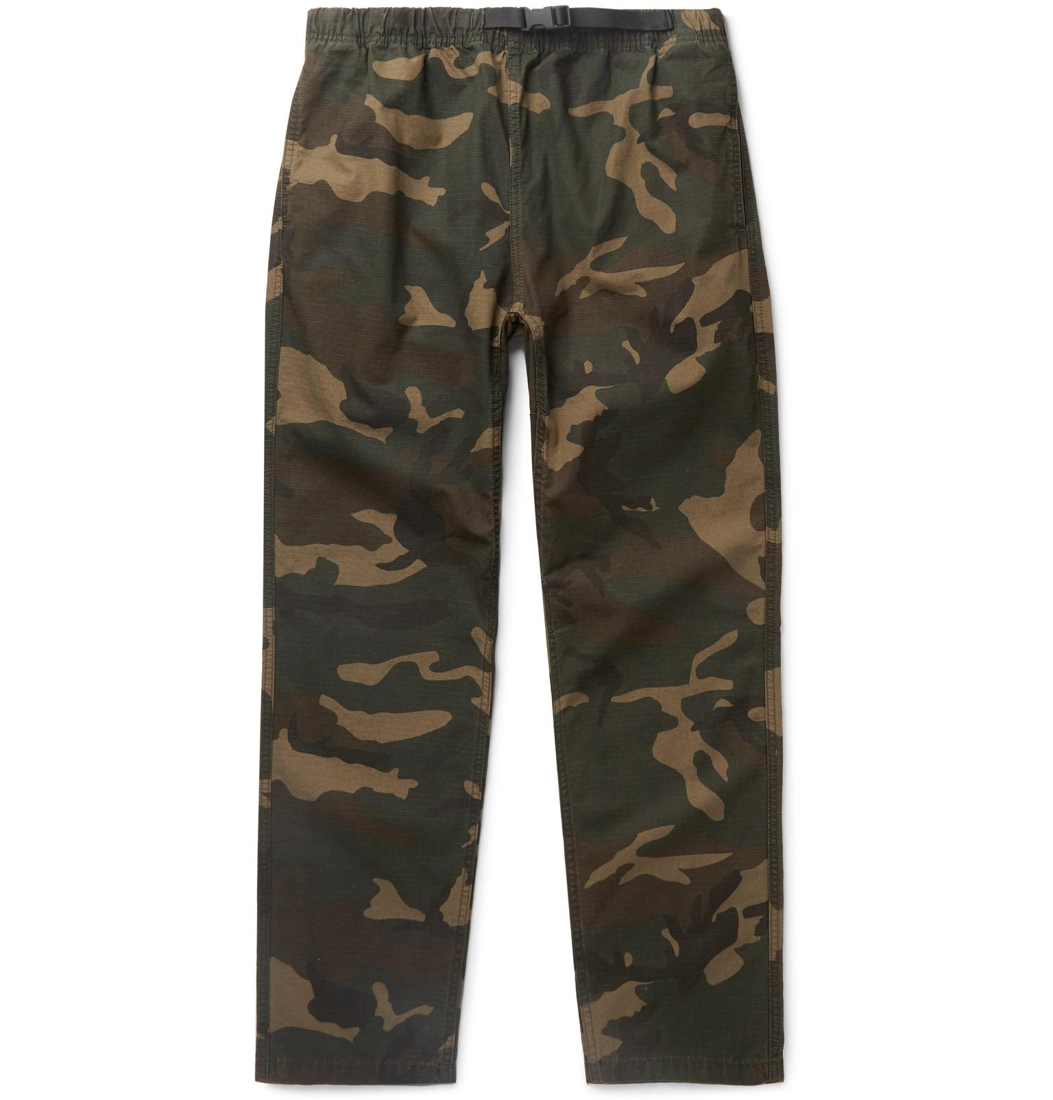 75d399b2ff626 Carhartt WIP. Men's Green Colton Camouflage-print Cotton-ripstop Trousers