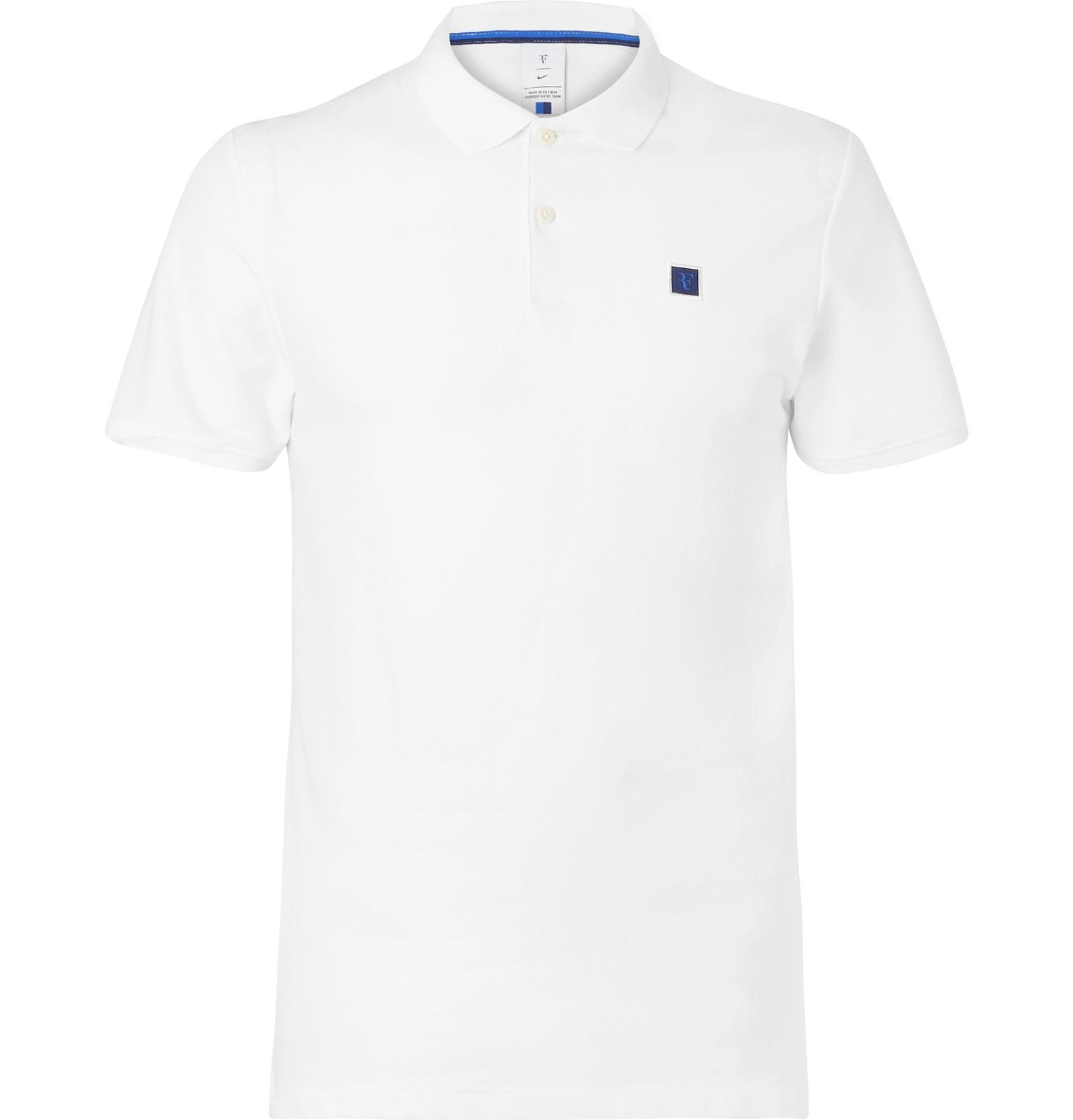 a21e0523 Nike Nikecourt Roger Federer Essential Cotton-blend Piqué Polo Shirt ...