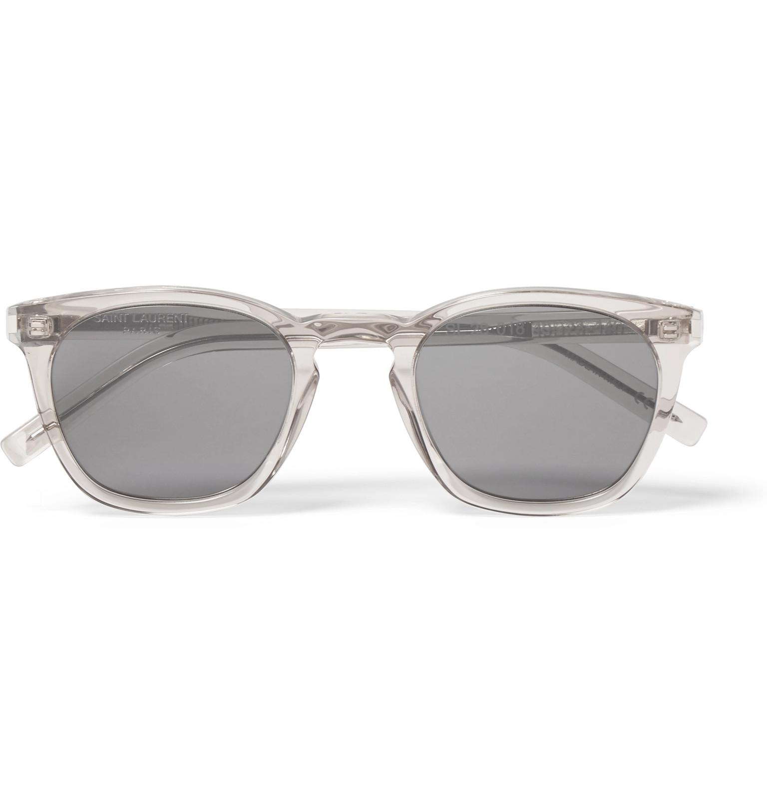 1b77bf87cf Saint Laurent D-frame Acetate Sunglasses in Gray for Men - Lyst