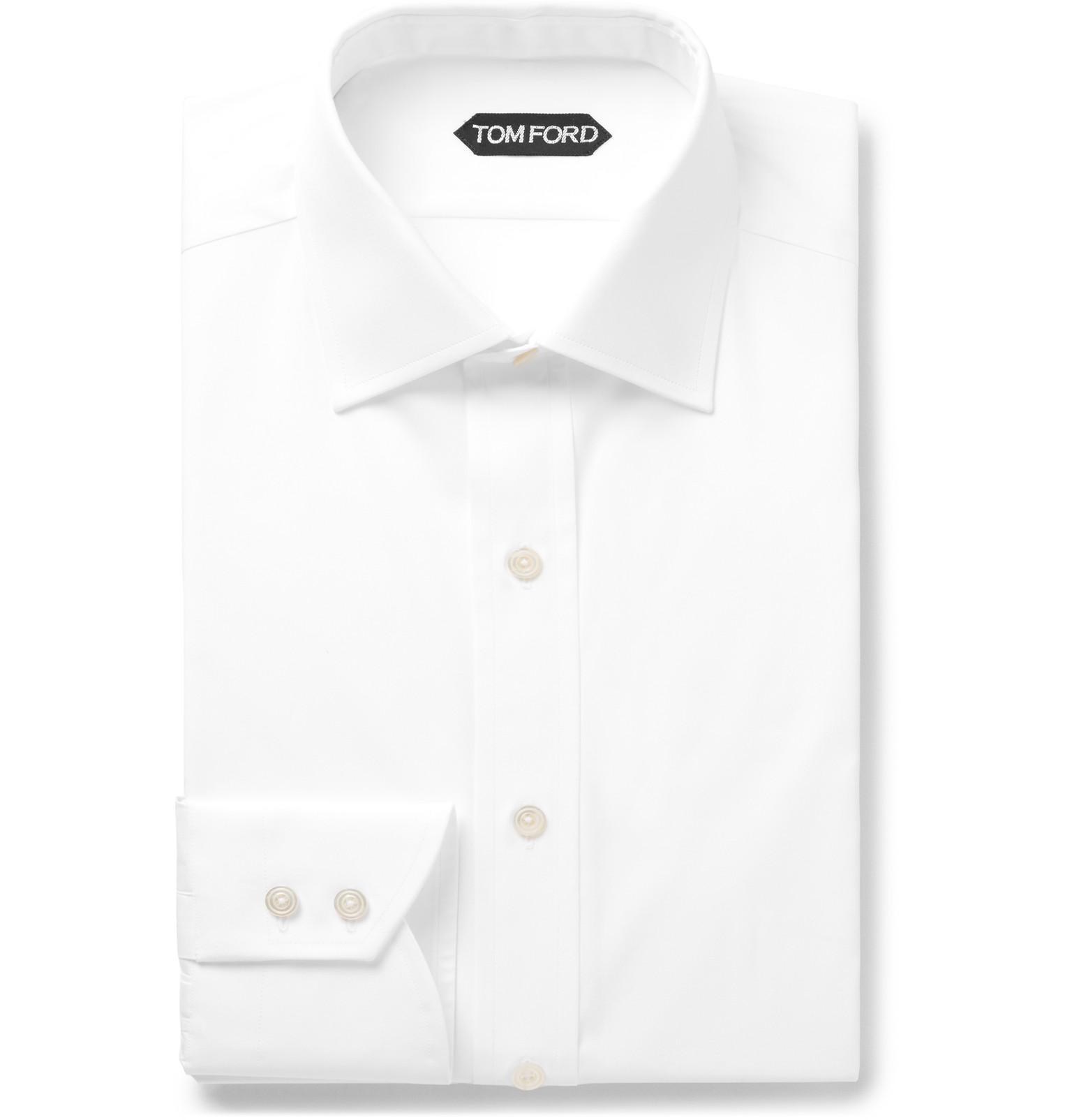 White Mavis Cutaway-collar Bib-front Cotton-poplin Tuxedo Shirt - WhiteSalle Privée Plus Grande Vente De Fournisseurs En Ligne Offres À Vendre Officiel À Vendre Réduction Limite BTm9Bb2wjq