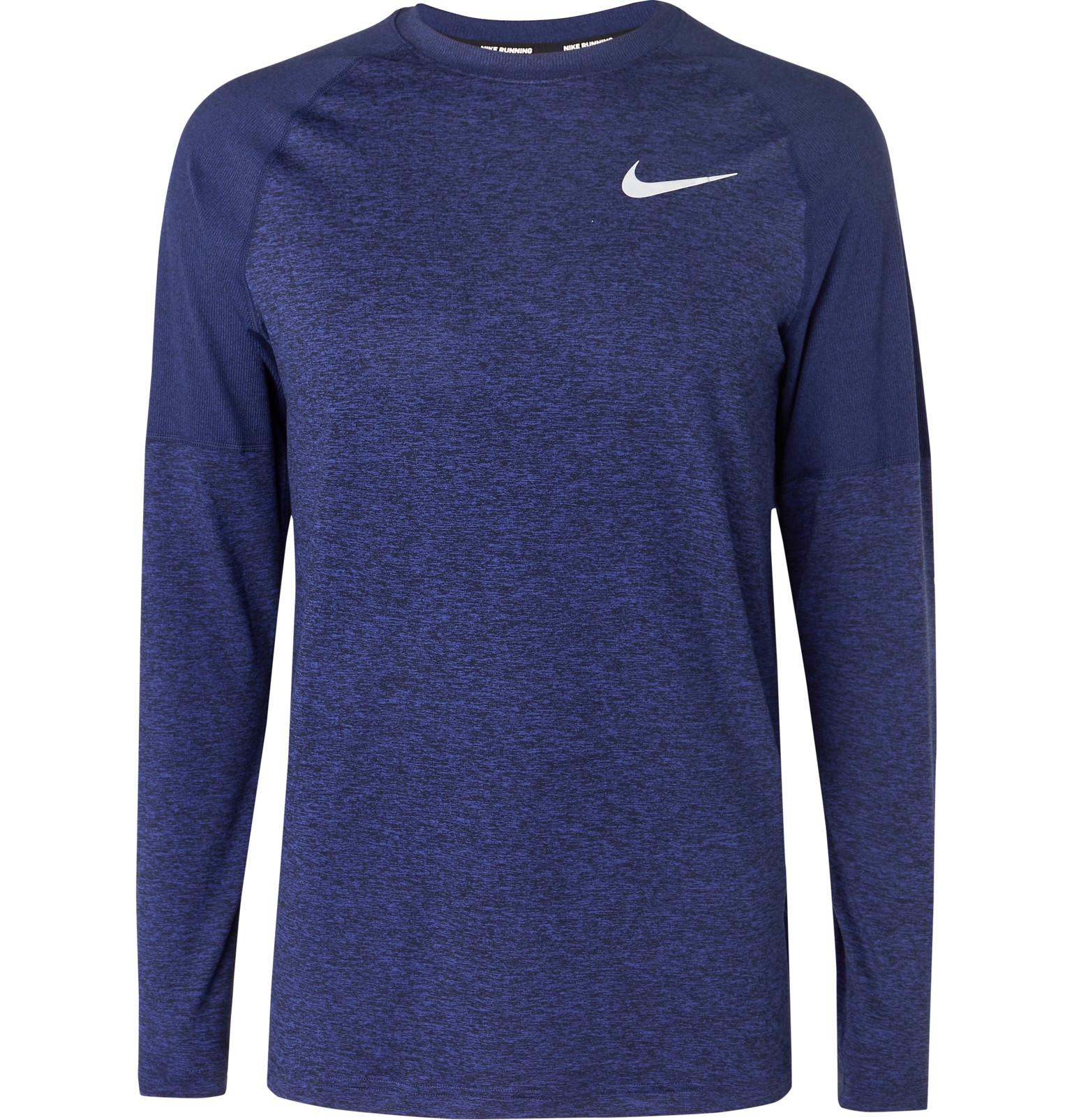 bc530b784f5 Nike Element Mélange Dri-fit T-shirt in Blue for Men - Lyst