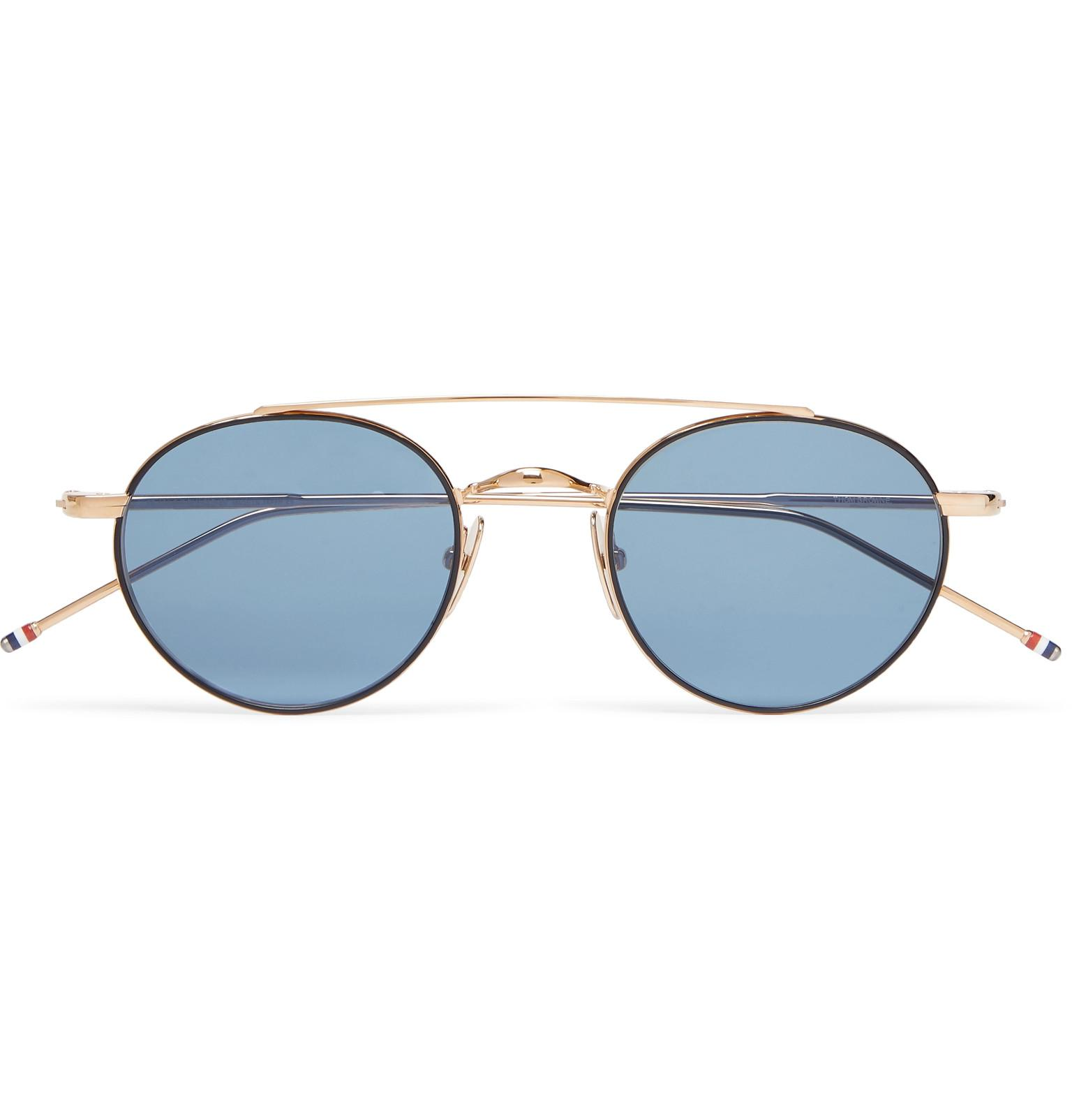 d811fbadea44 Thom Browne Round-frame Gold-tone Sunglasses in Metallic for Men - Lyst