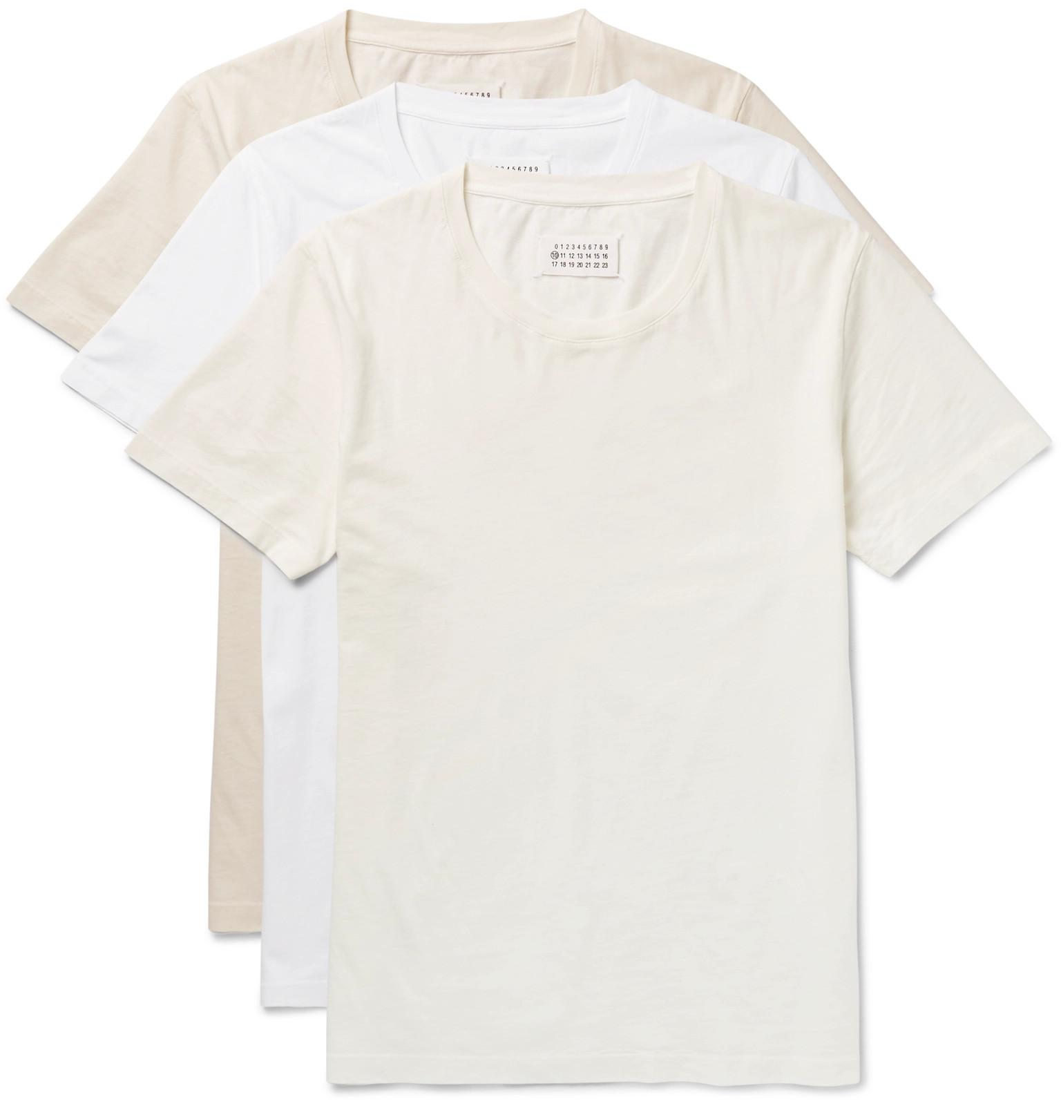 Free Shipping Cheap Price Three-pack Slim-fit Crinkled Cotton-jersey T-shirts Maison Martin Margiela Hyper Online uULIQ