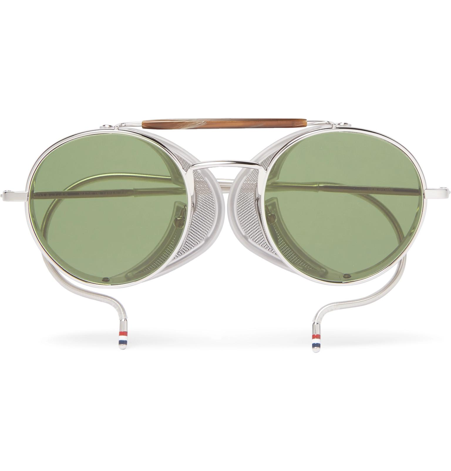 5162838402cfe Thom Browne Round-frame Metal Sunglasses in Metallic for Men - Lyst