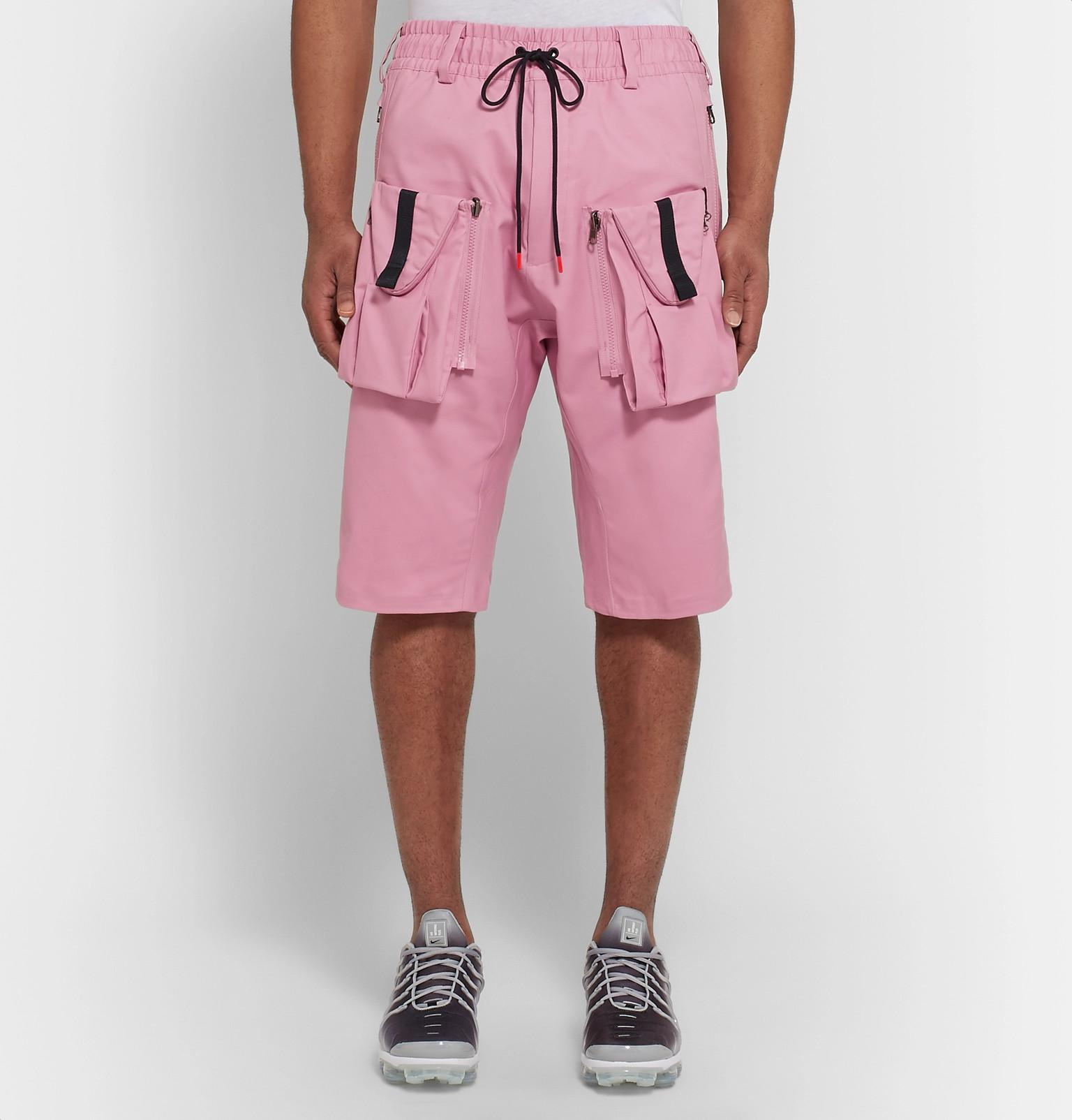 0453637840 Nike Lab Acg Deploy Cargo Stretch-cotton Shorts in Pink for Men - Lyst