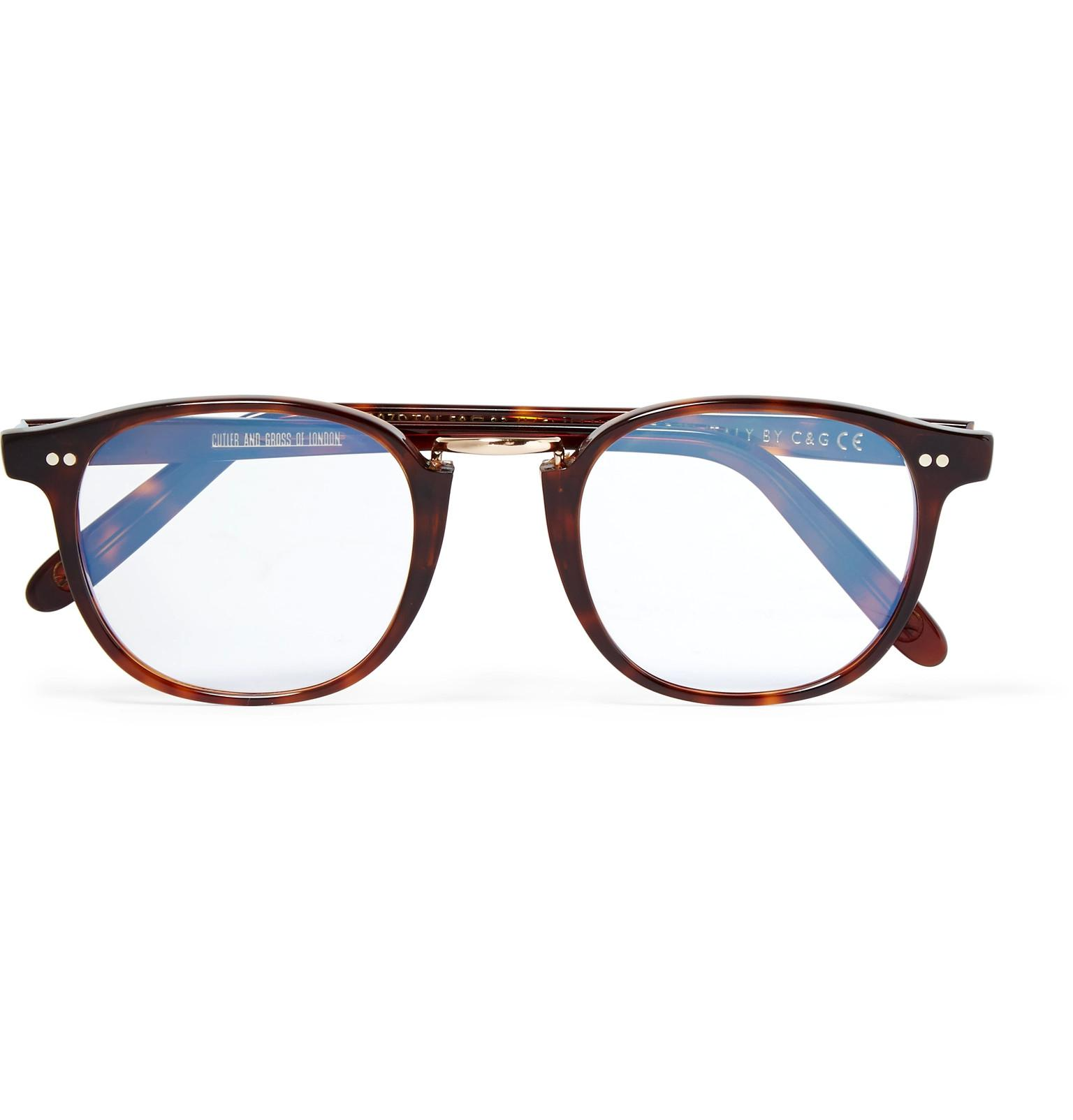 6e43c4fda45 Lyst - Kingsman Cutler And Gross D-frame Tortoiseshell Acetate And ...