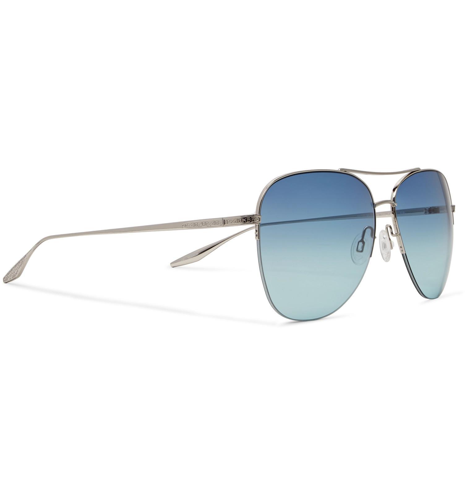 a0d4fe1f71 Barton Perreira Chevalier Aviator-style Silver-tone Titanium ...