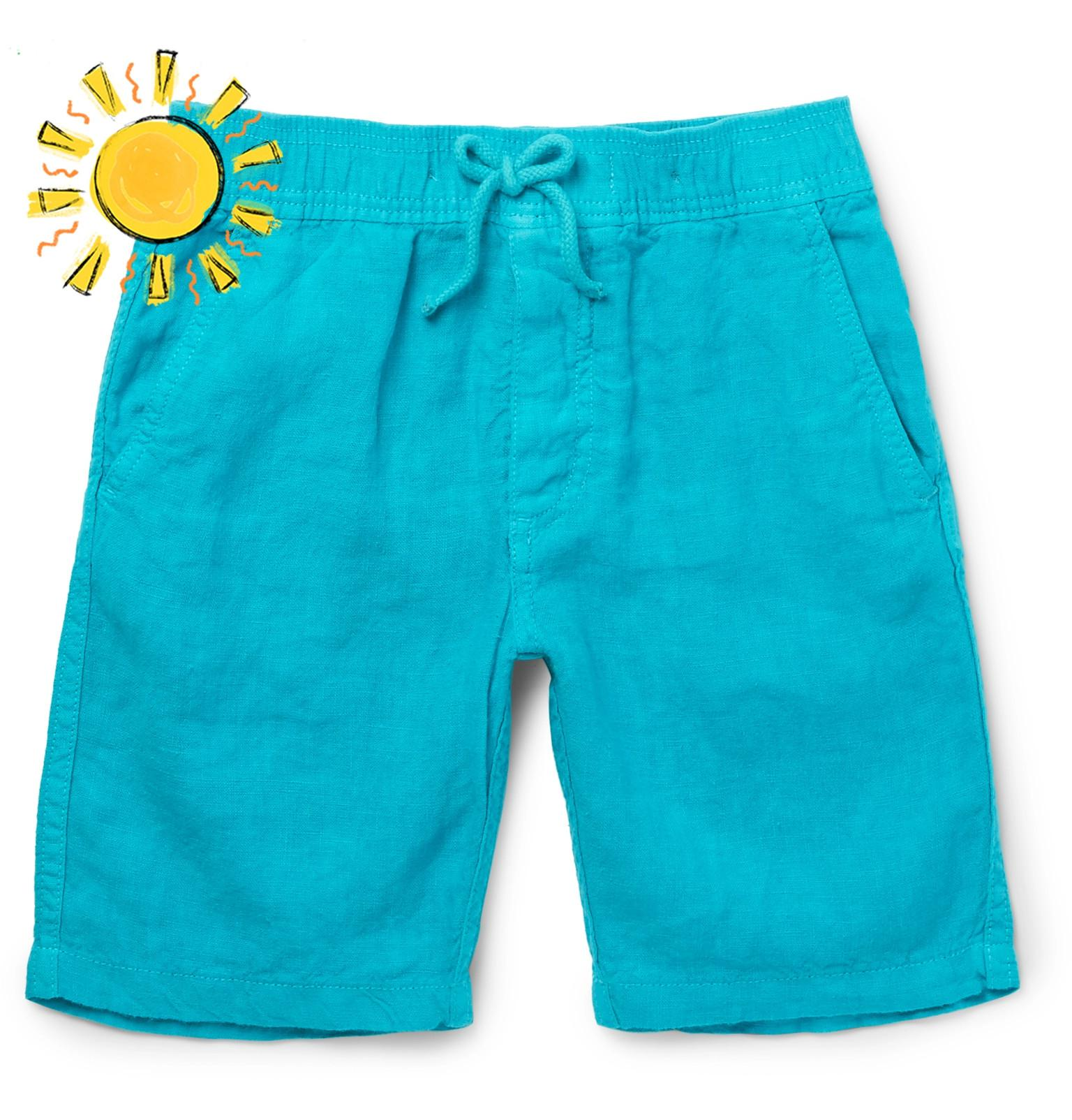 Vilebrequin Boys Ages 2 - 12 Linen Shorts - Navy 9UEjehpNF