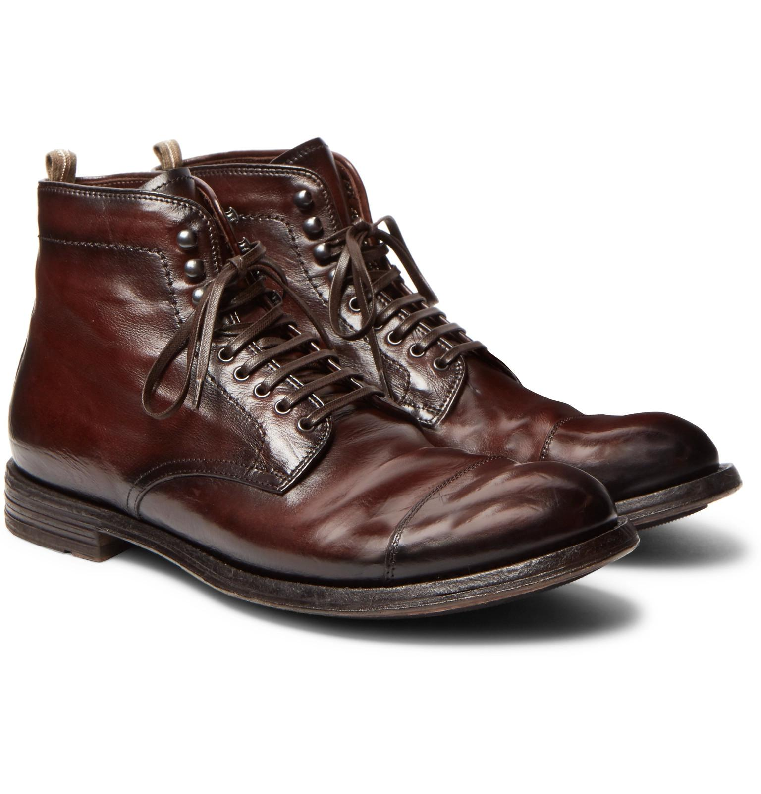 Shearling-lined Full-grain Leather Boots Officine Creative Ost Release Dates Hard Wearing Clearance Shop Offer Cheap Authentic Outlet Vx07SqPk