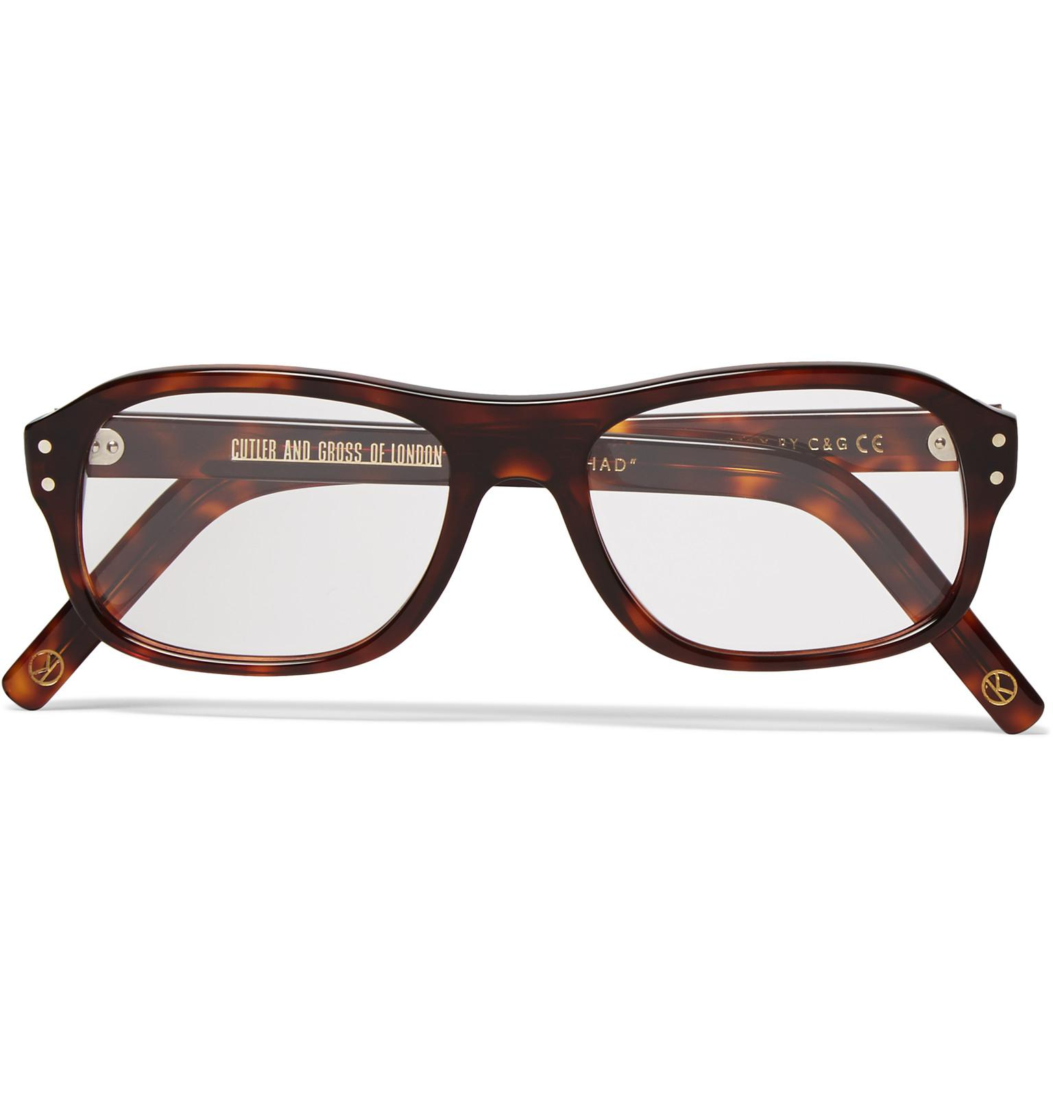 77289d04e9 Kingsman. Men s Brown + Cutler And Gross Square-frame Tortoiseshell Acetate  Optical Glasses
