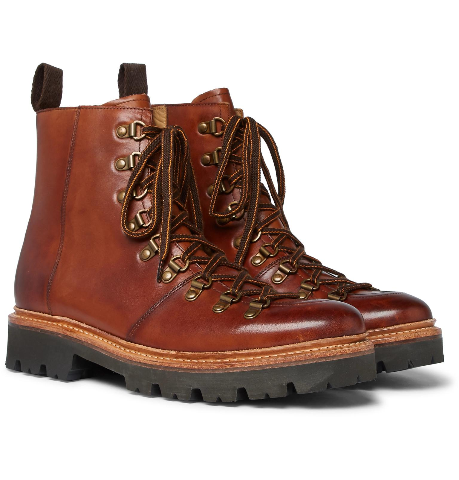 e631eba44d1 Lyst - Grenson Brady Polished-leather Boots in Brown for Men