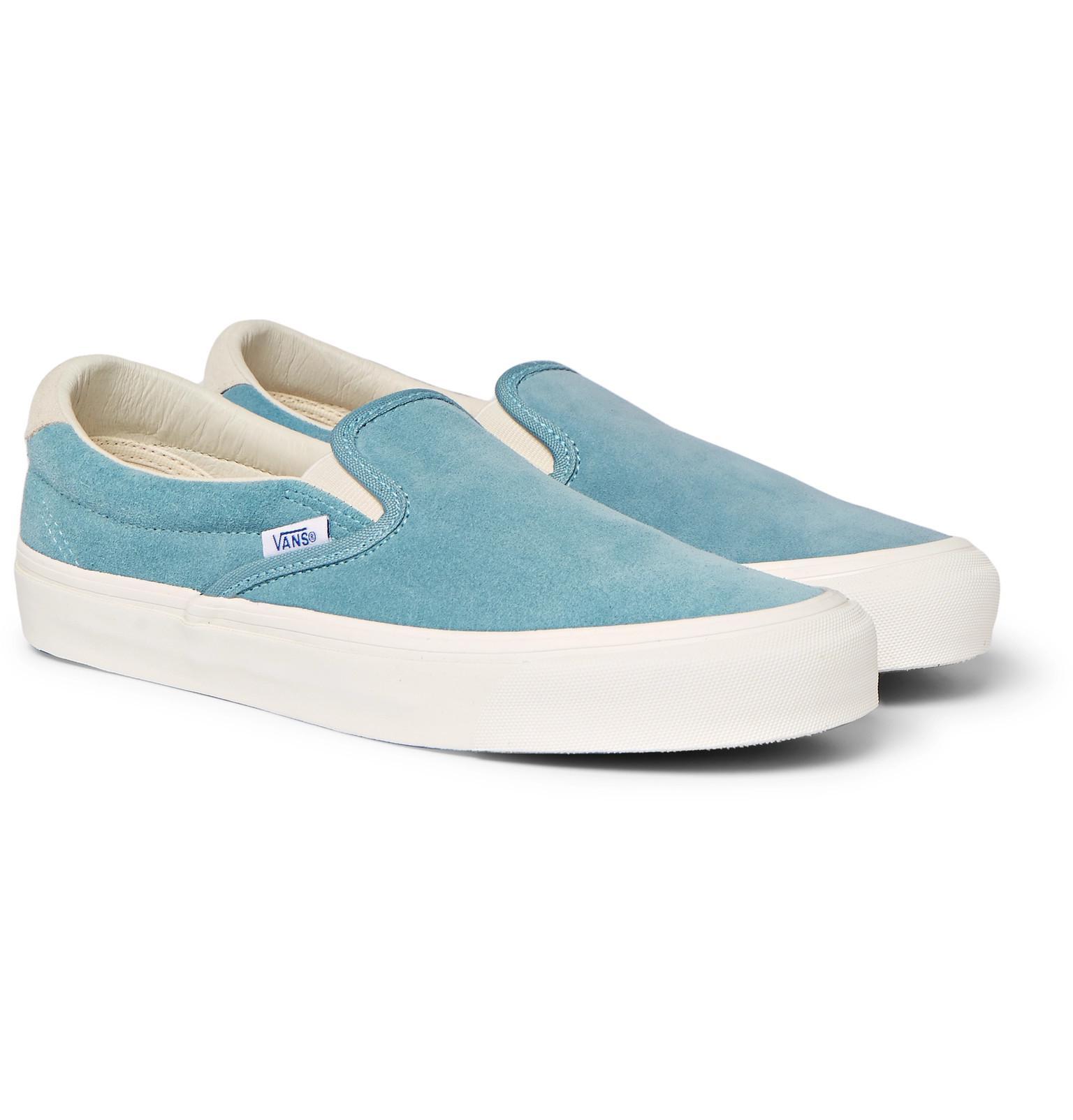8dd87b1982 Lyst - Vans Og Classic Lx Suede Slip-on Sneakers in Blue for Men