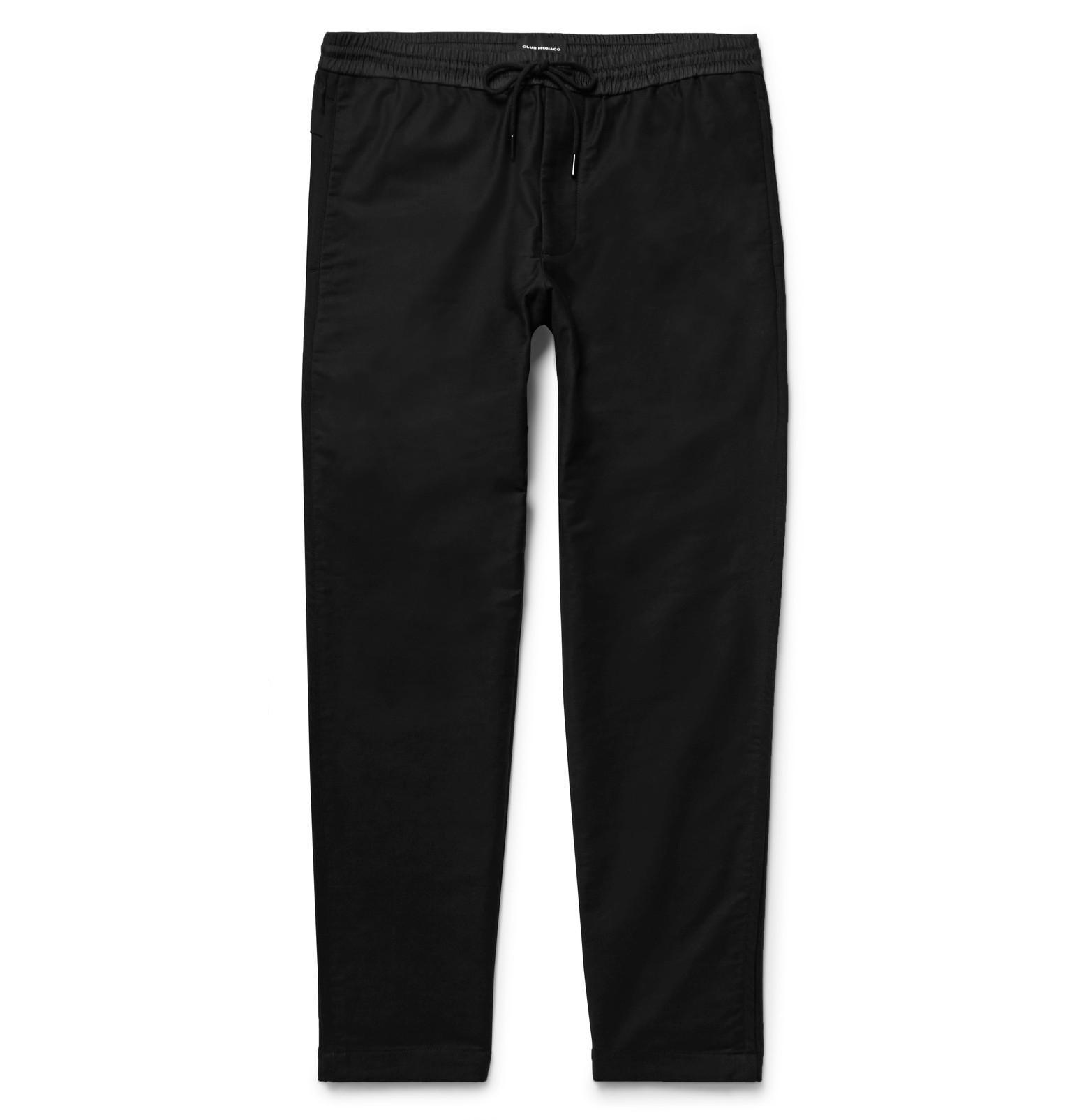 Slim-fit Woven Drawstring Trousers Club Monaco Discount Manchester Cheap Shop Best Prices Sale Online Shop Your Own Online Shop 2oJ1TINz