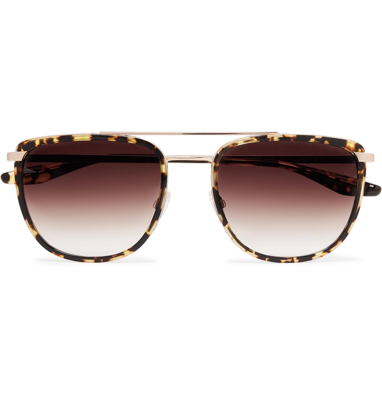 Lafayette Aviatorstyle Acetate And Titanium Sunglasses Barton ...