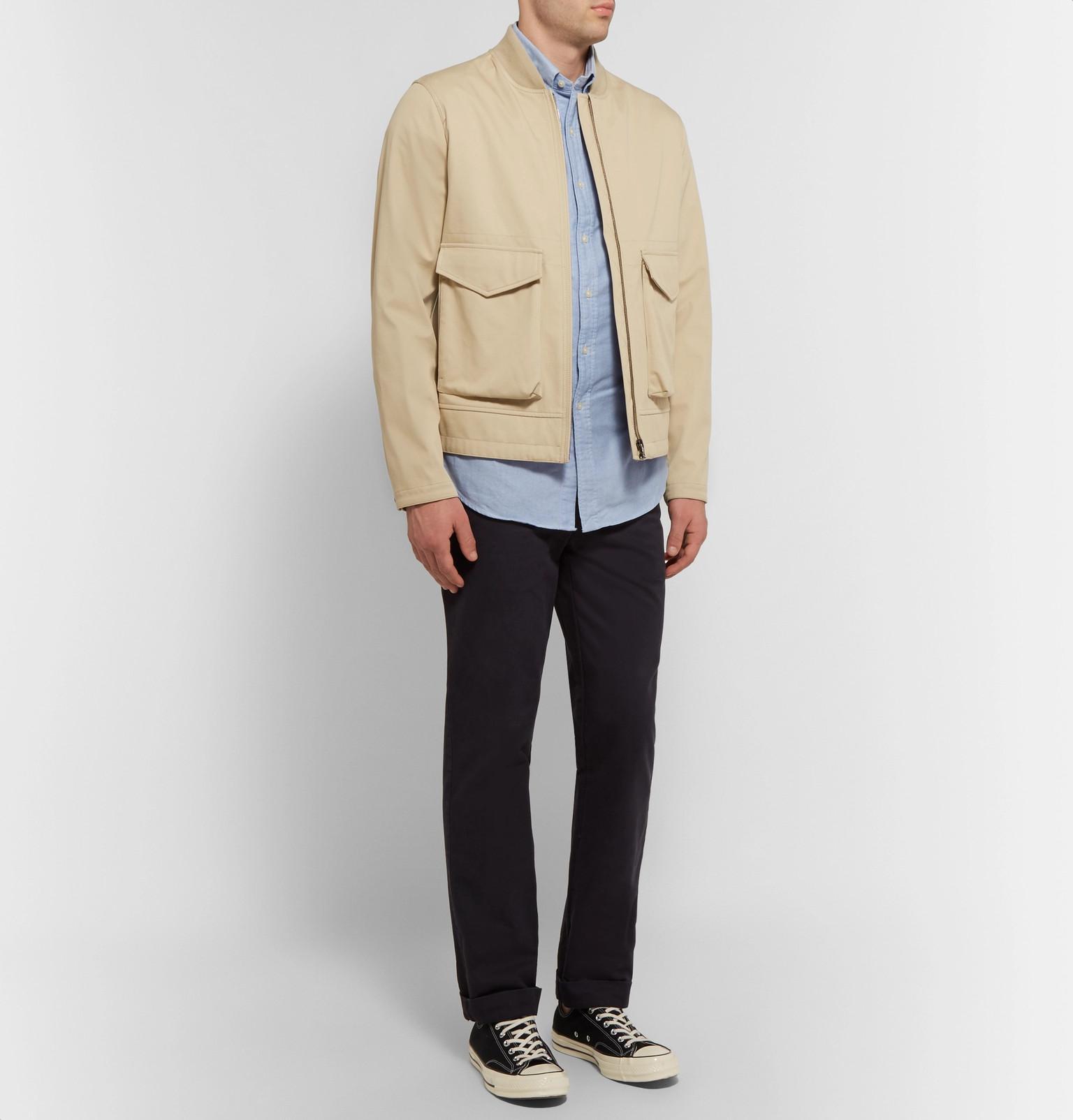 635ec34e7148e4 Polo Ralph Lauren - Blue Slim-fit Cotton Oxford Shirt for Men - Lyst. View  fullscreen