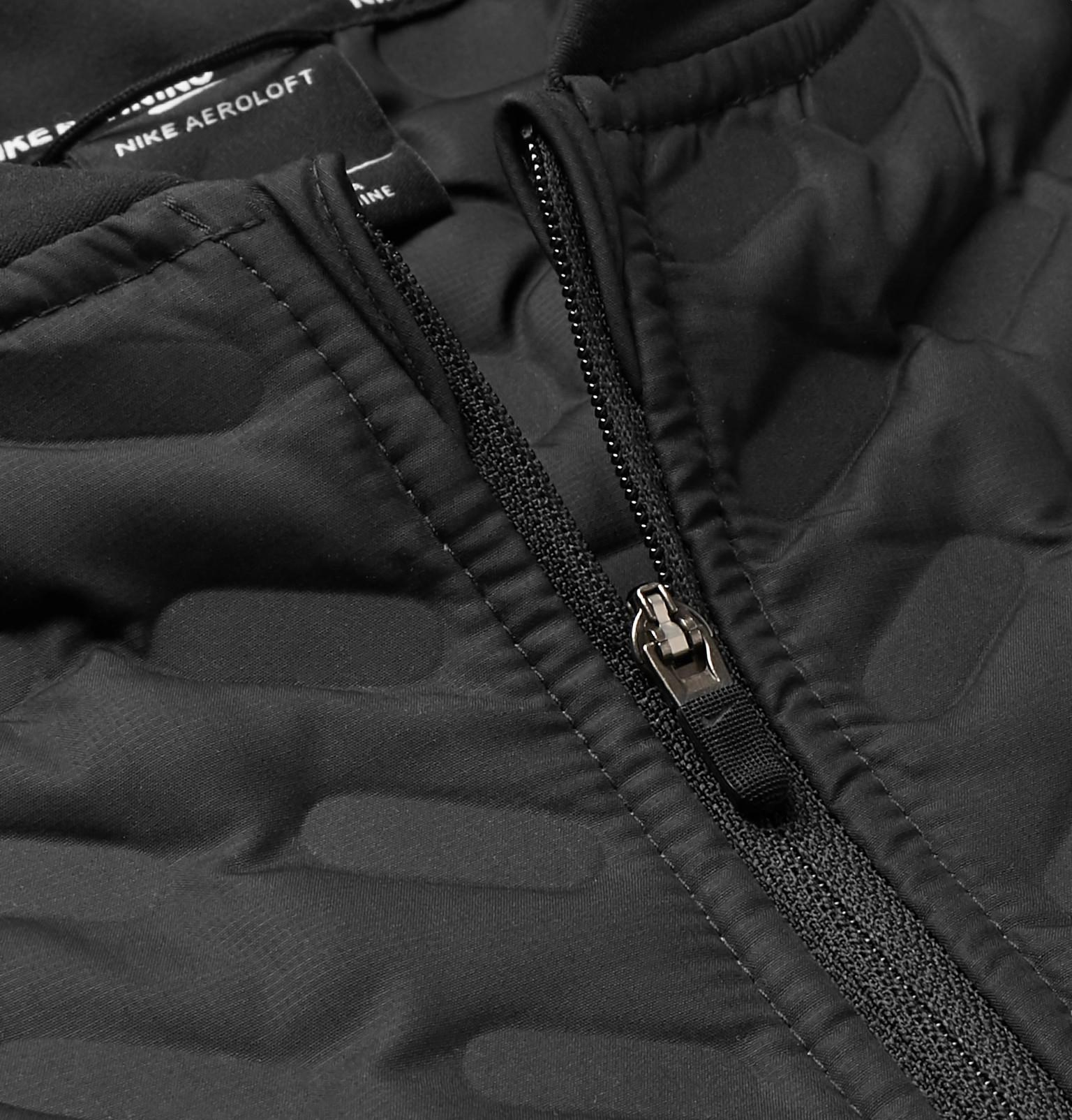 4d1a5f4ccef5 Men Quilted Perforated In Shell Jacket Aeroloft For Nike Black Lyst  RqtwCxEzn