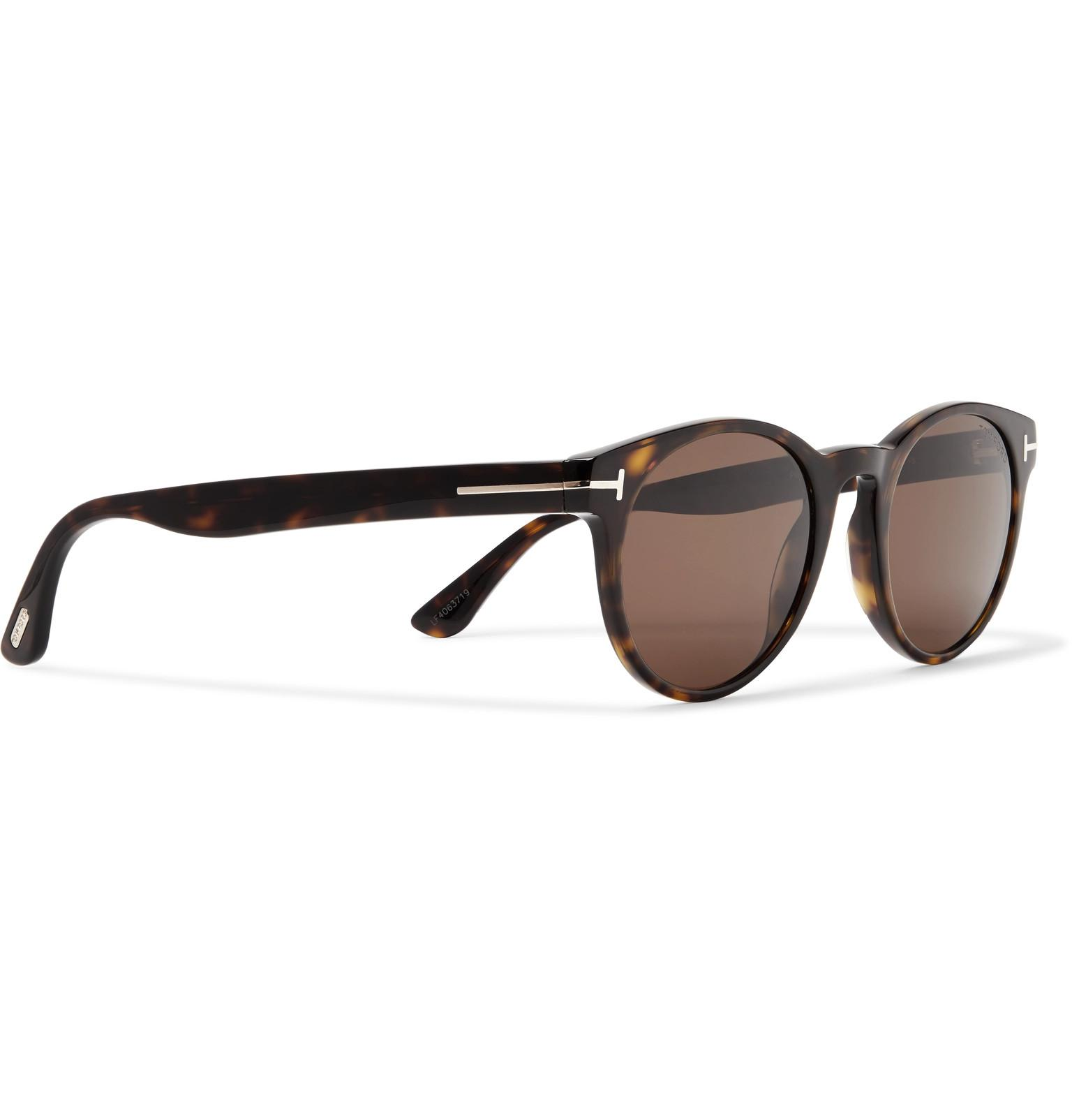 bf9f067a1e60a Tom Ford - Brown Palmer Round-frame Tortoiseshell Acetate Sunglasses for  Men - Lyst. View fullscreen