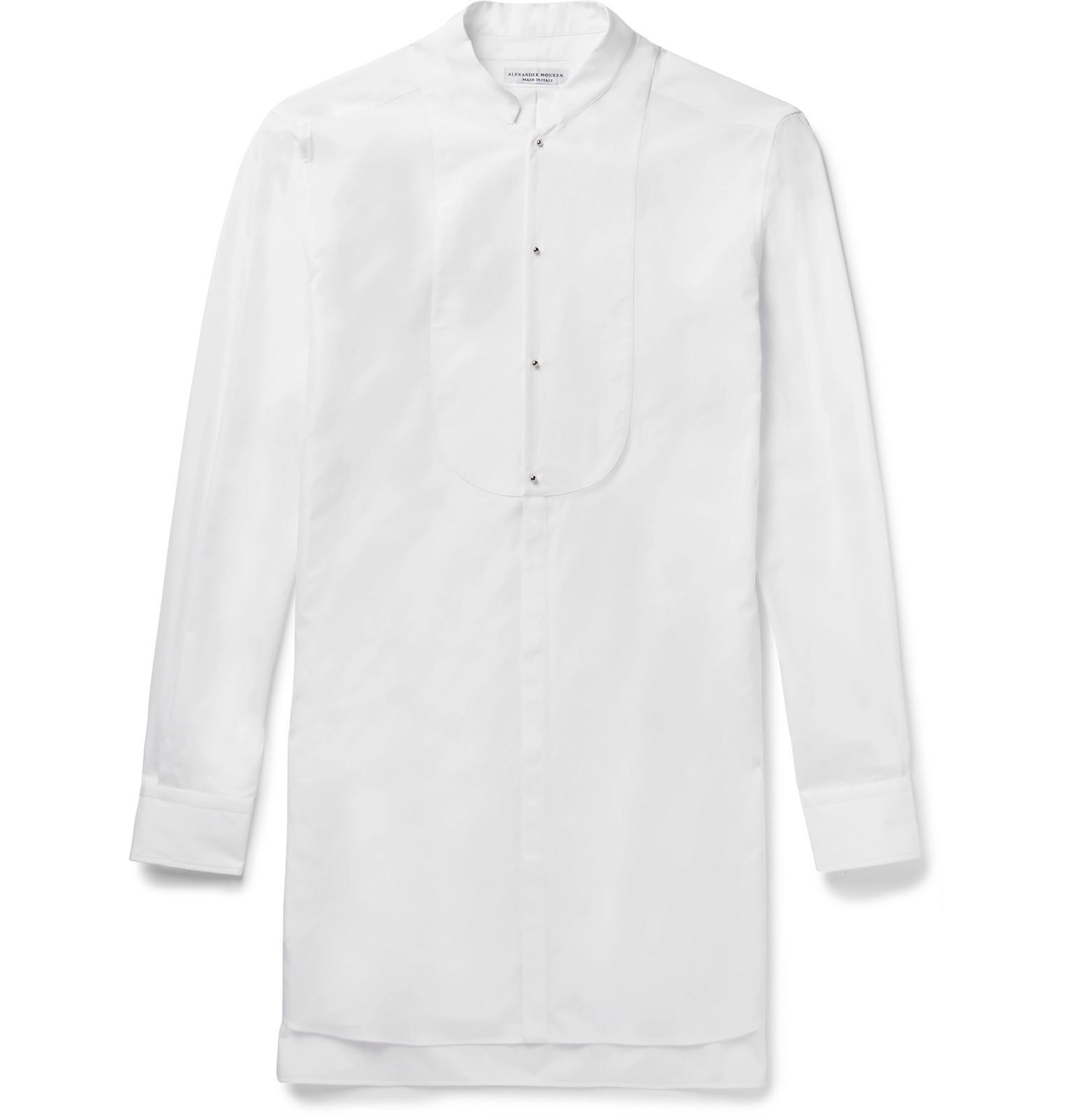 f00ca60cdbed alexander-mcqueen-white-Mandarin-collar-Cotton-poplin-Tuxedo-Shirt.jpeg