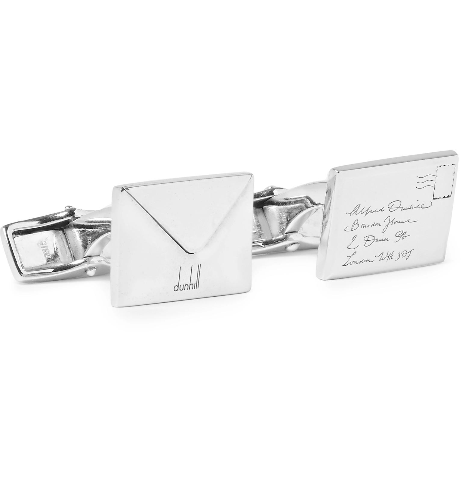 Dunhill Envelope Silver-tone Cufflinks - Silver