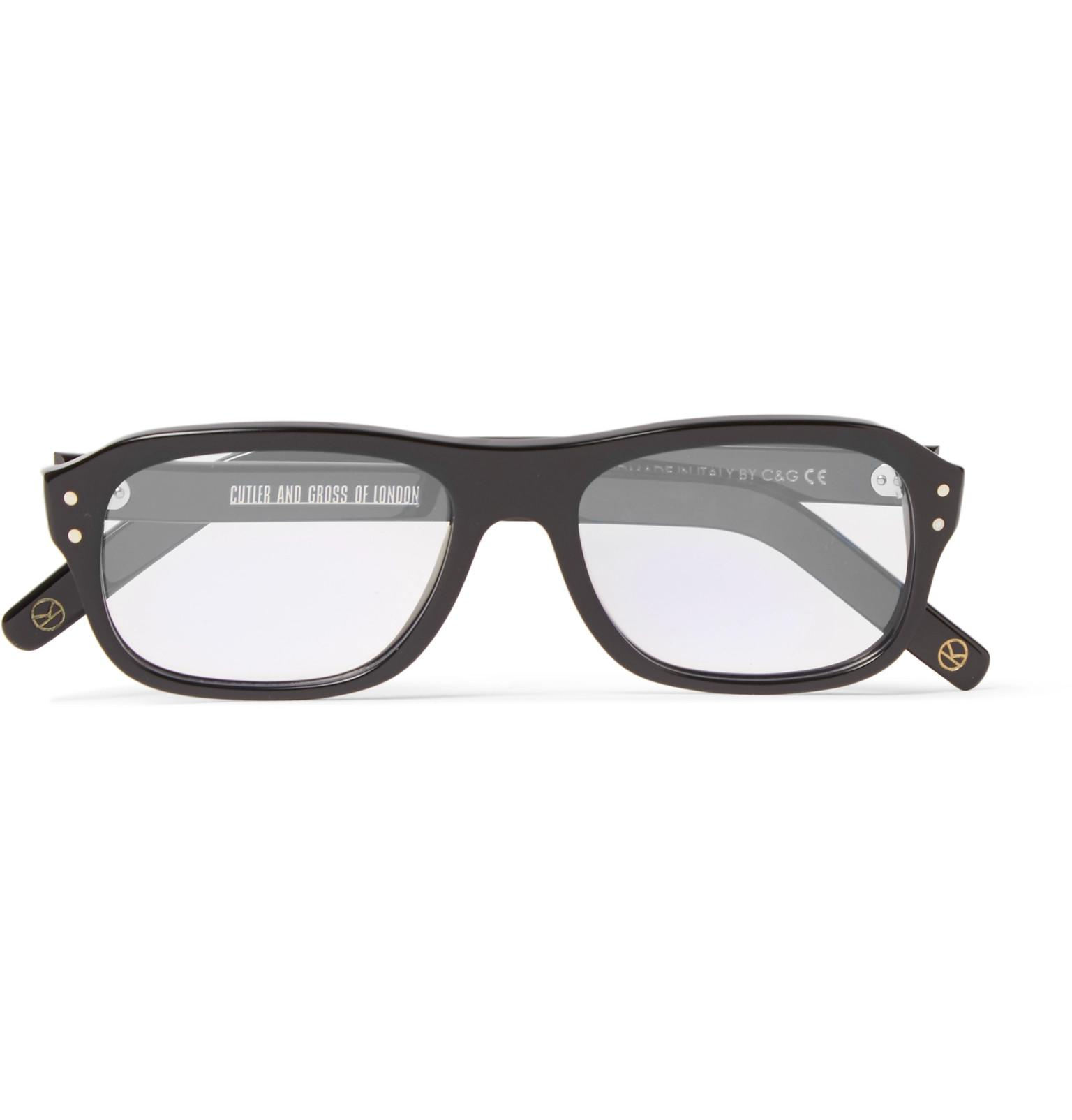 490e149e898 Lyst - Kingsman + Cutler And Gross Eggsy s Square-frame Acetate ...