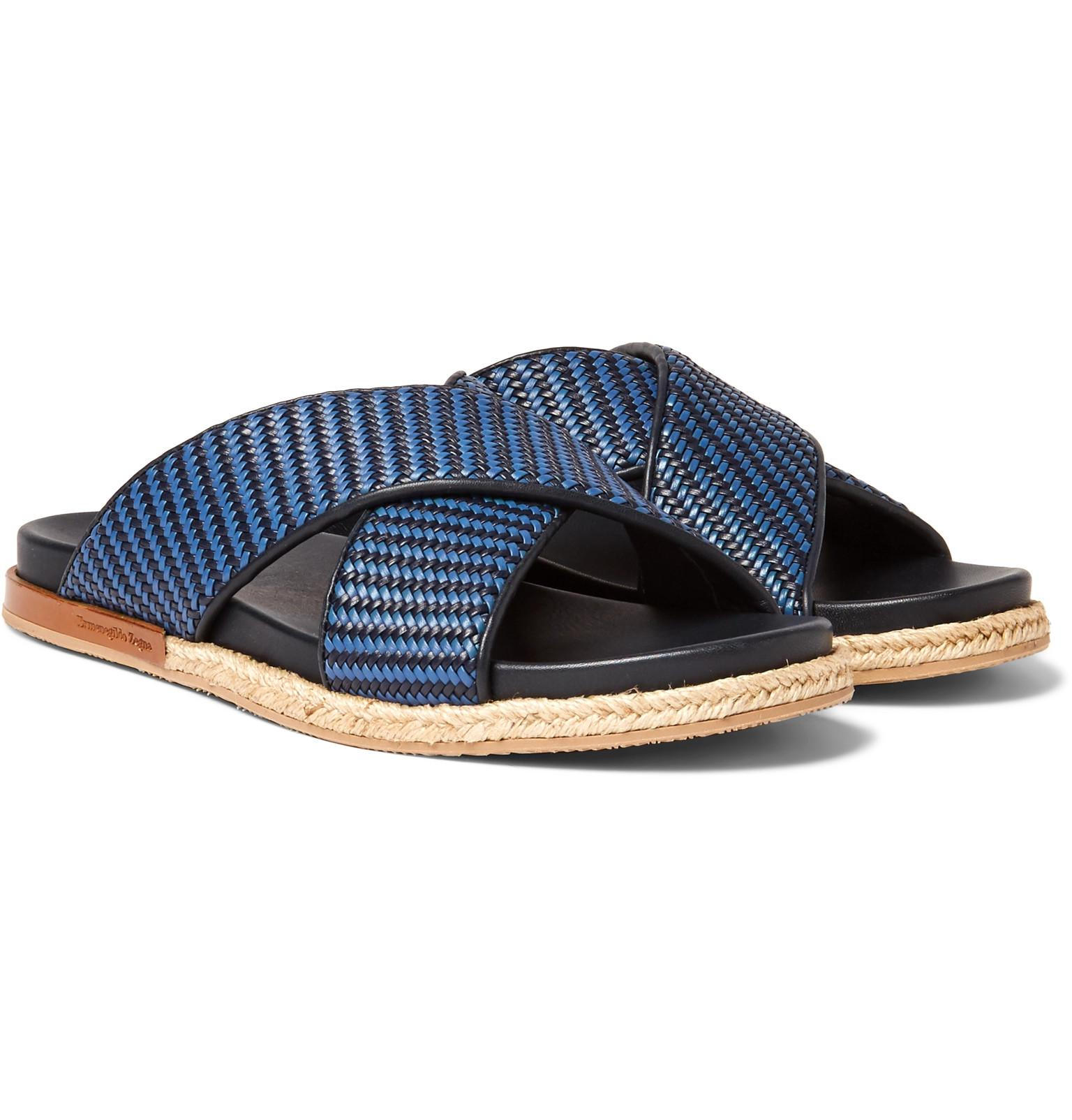 Leather Slides Ermenegildo Zegna