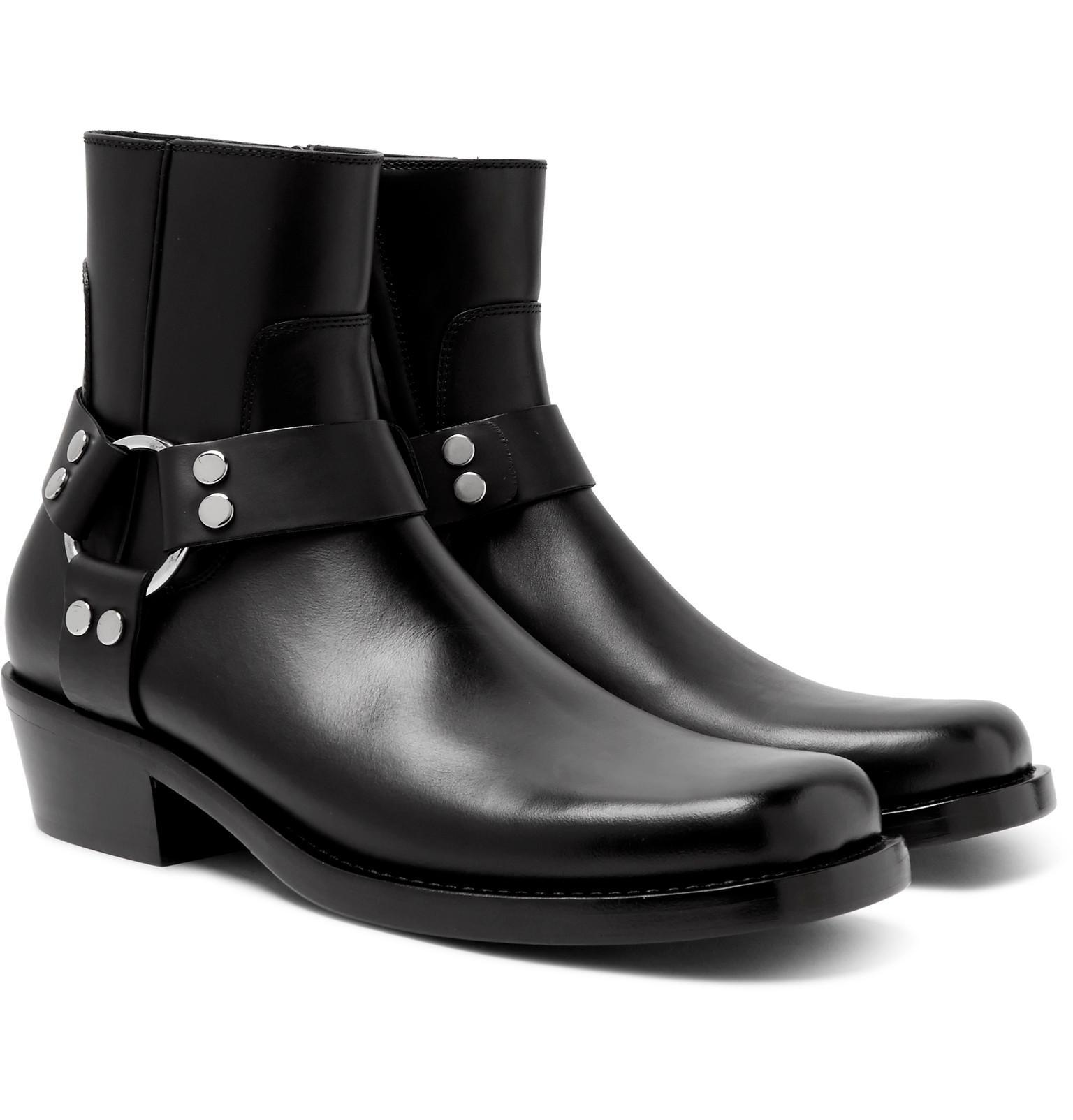 Balenciaga Black Wyatt Harness Boots BDPSK26d