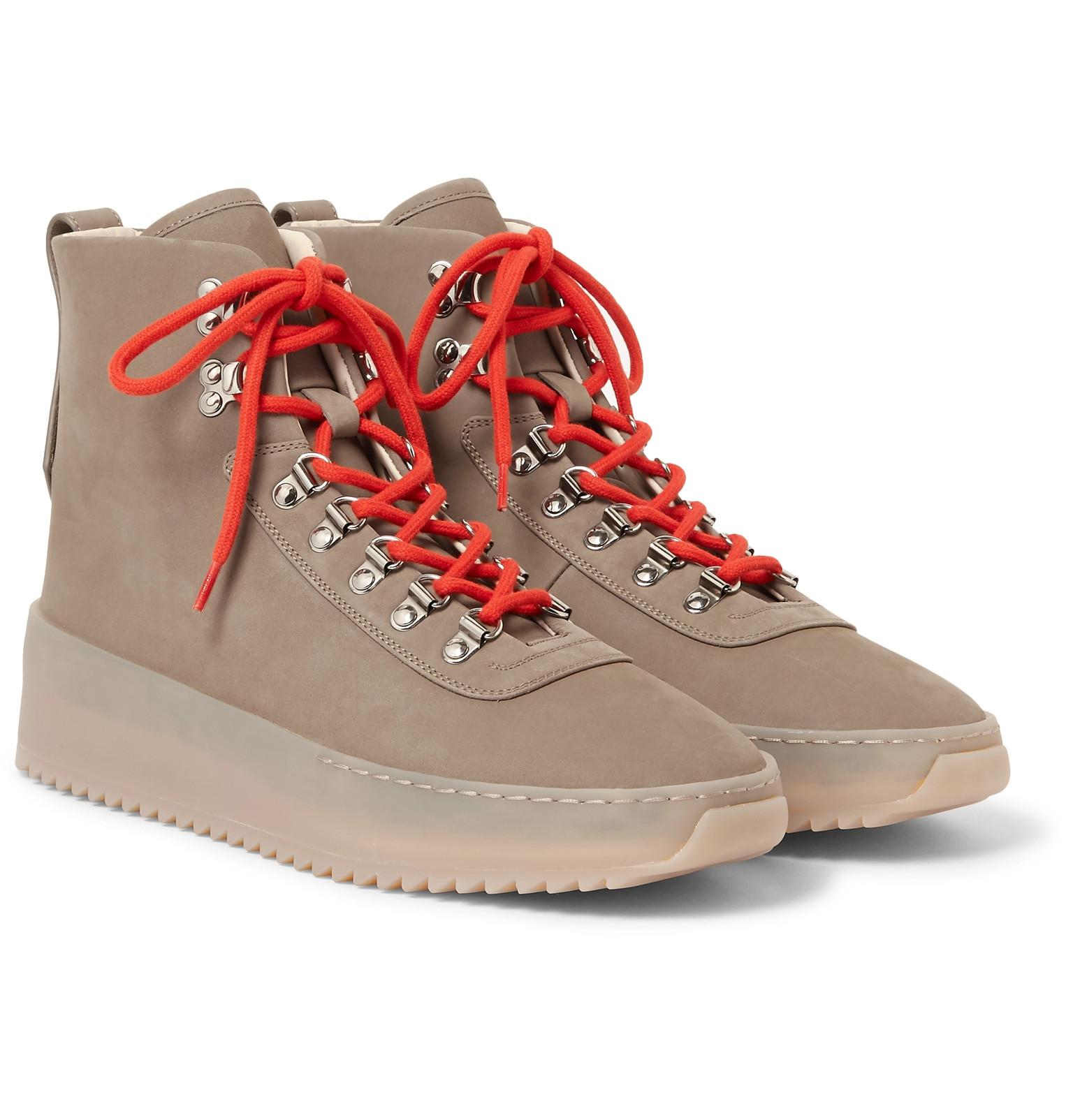 Mens Hiking Nubuck & Leather Sneakers Fear of God