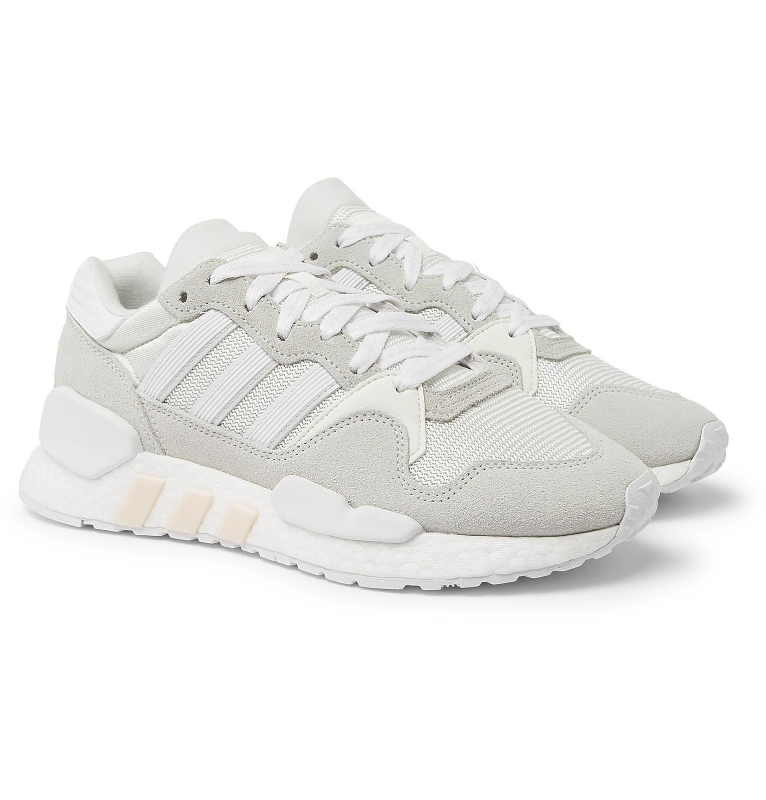 1aac4d5a468d adidas Originals Zx 930 X Eqt Mesh And Suede Sneakers in White for ...