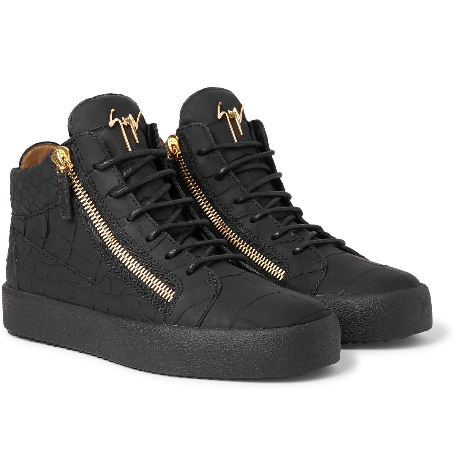 Logoball Croc-effect Leather High-top Sneakers Giuseppe Zanotti 10iWRm