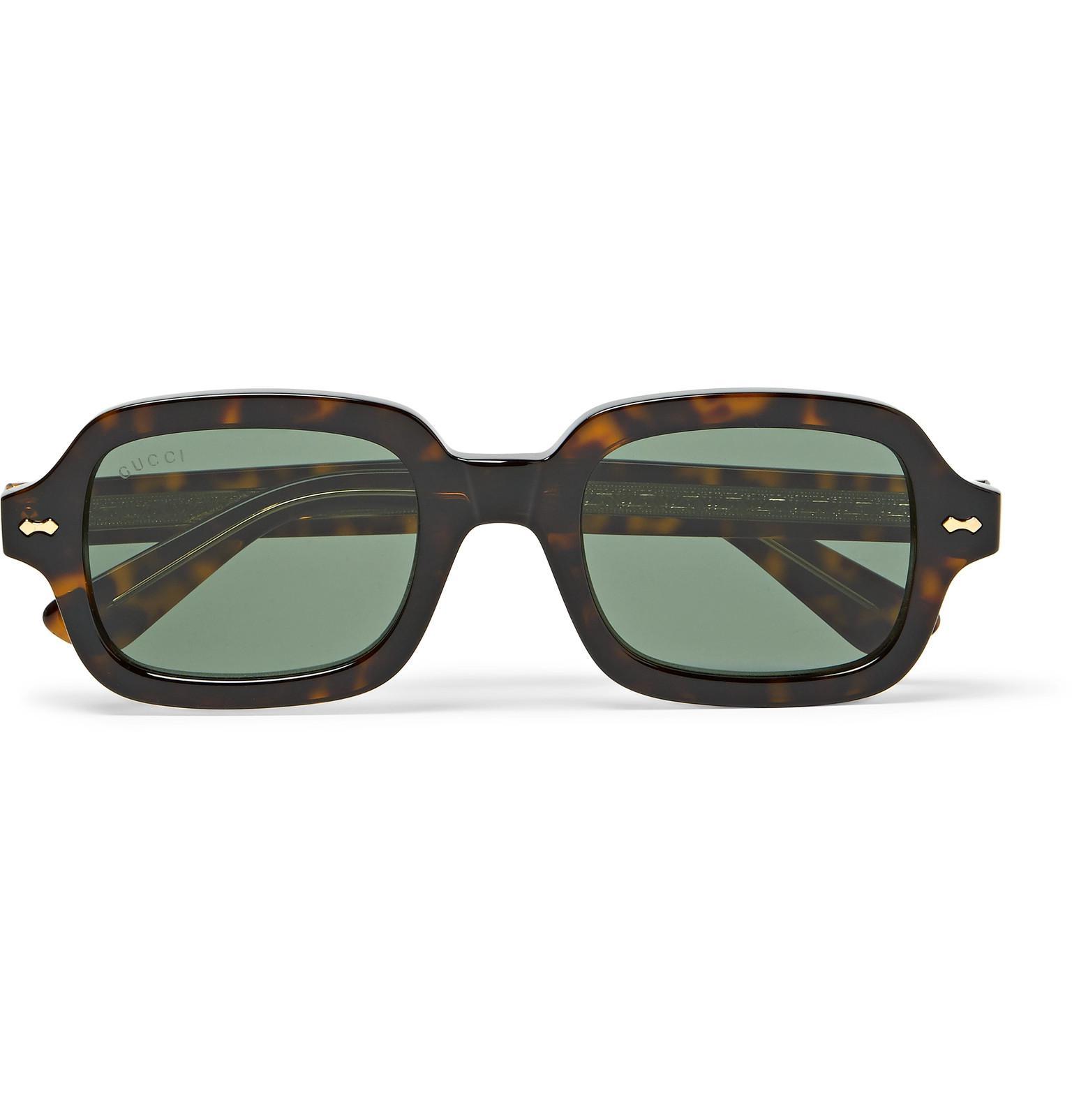 6f1b5e363b Gucci Square-frame Tortoiseshell Acetate Sunglasses in Brown for Men ...