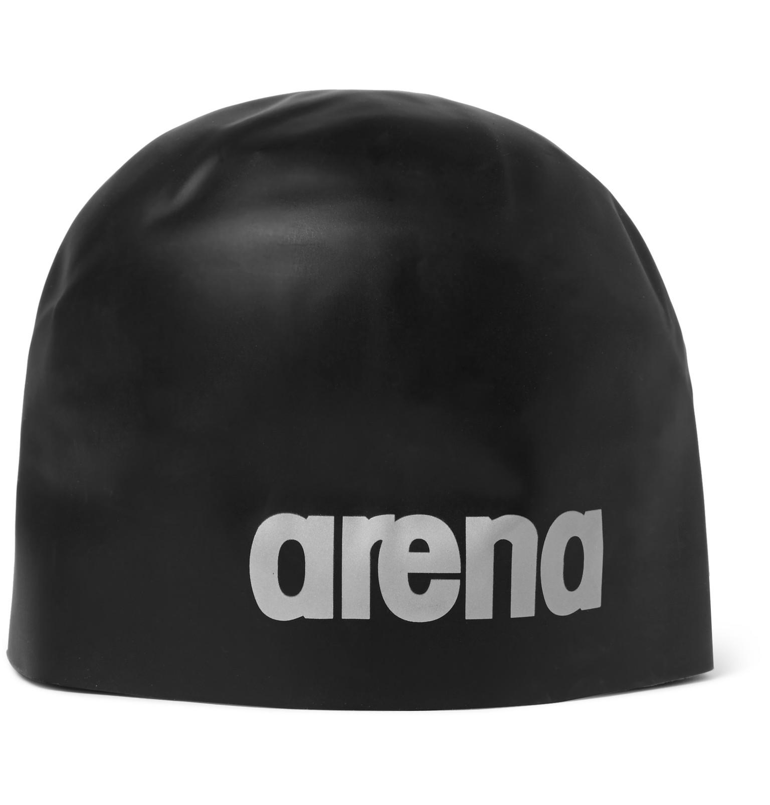 aa2be2aa Lyst - Arena Silicone Swimming Cap in Black for Men