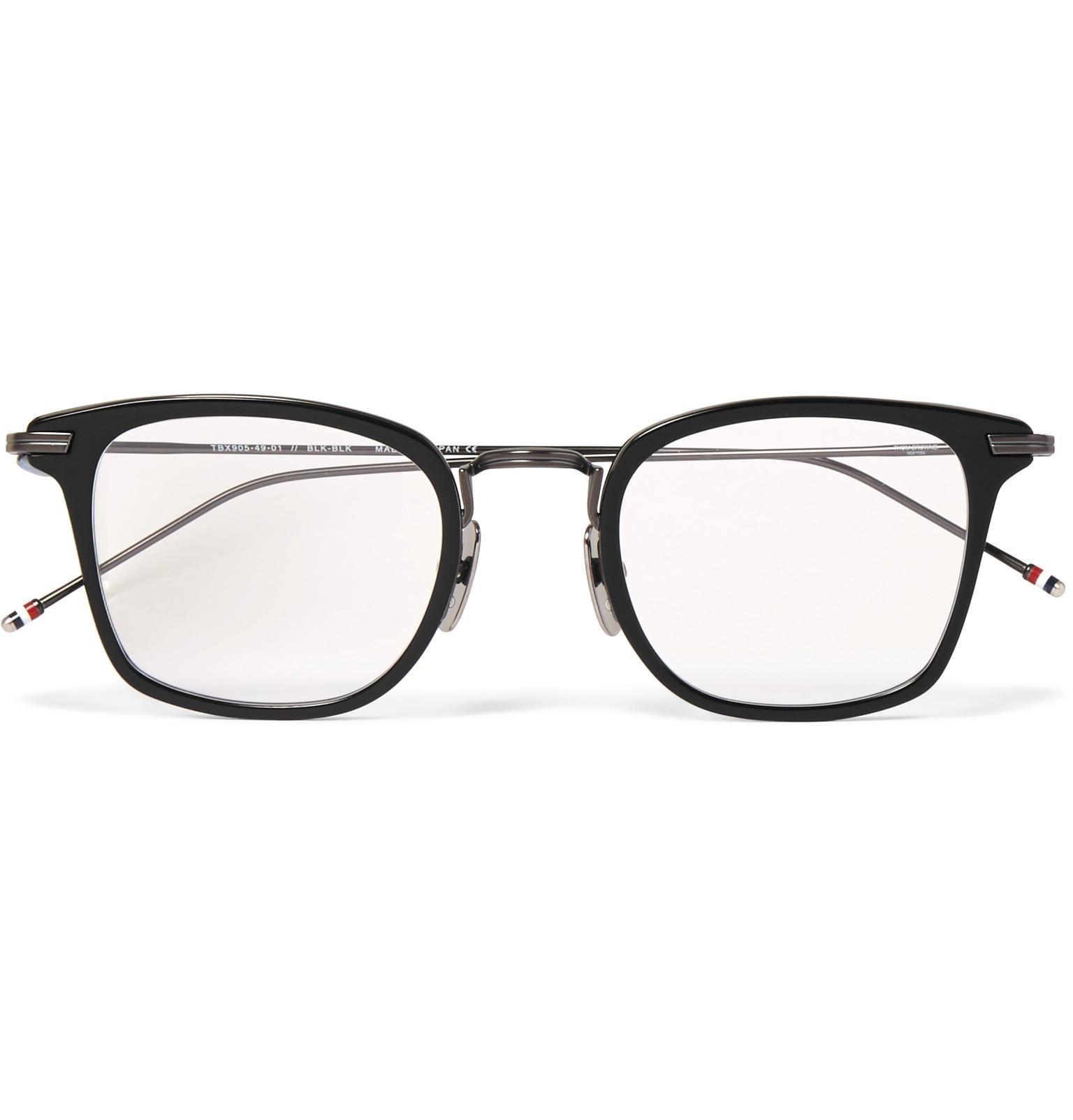 e3075d204b266 Thom Browne Square-frame Acetate And Gunmetal-tone Optical Glasses ...