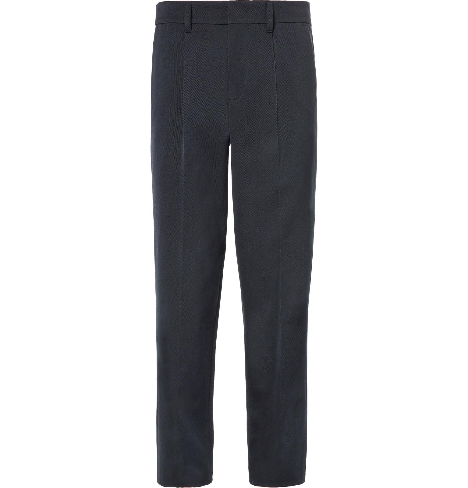 Pleated Wool And Cotton-blend Twill Trousers Mr P. Kbae7fW
