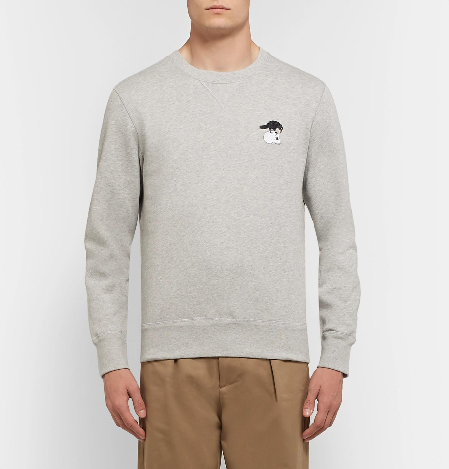 Mélange Back Blend Jersey Gray Sweatshirt Fleece Mcqueen For Alexander  Fullscreen Embroidered View Men Cotton tf4qXxw 98fc6bff35c
