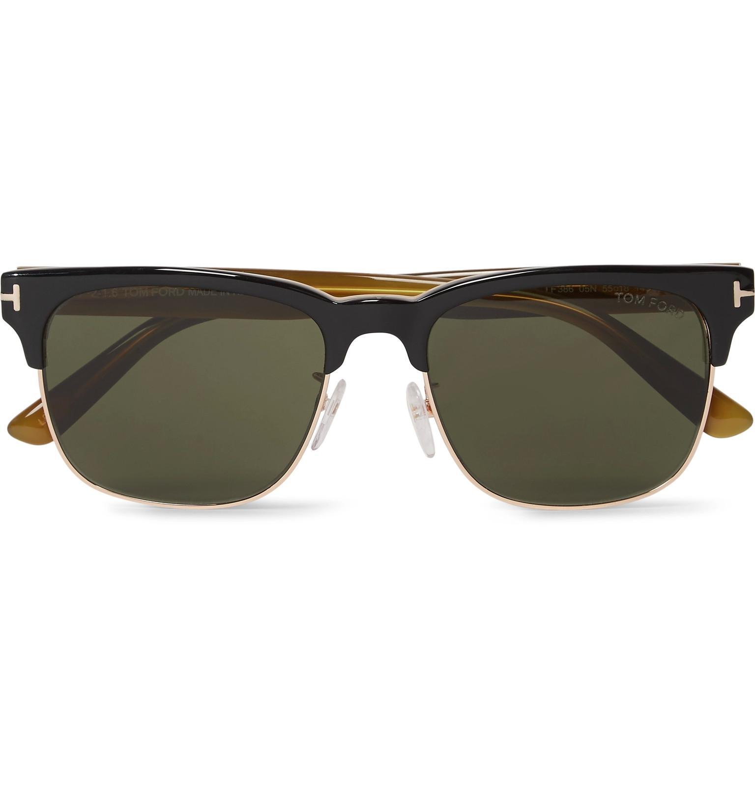 adcea651e0e Lyst - Tom Ford Louis D-frame Rose Gold-tone And Acetate Sunglasses ...