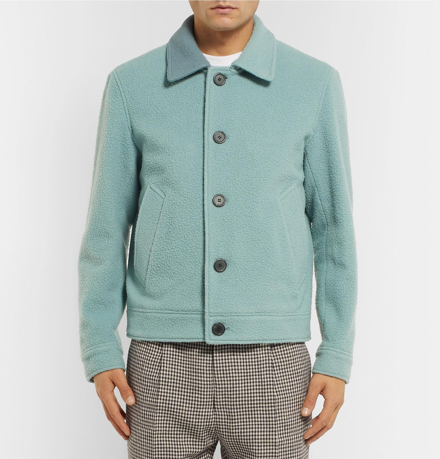 Boiled Blend Blue Jacket Men For Wool In Ami Lyst 4qwdHgq