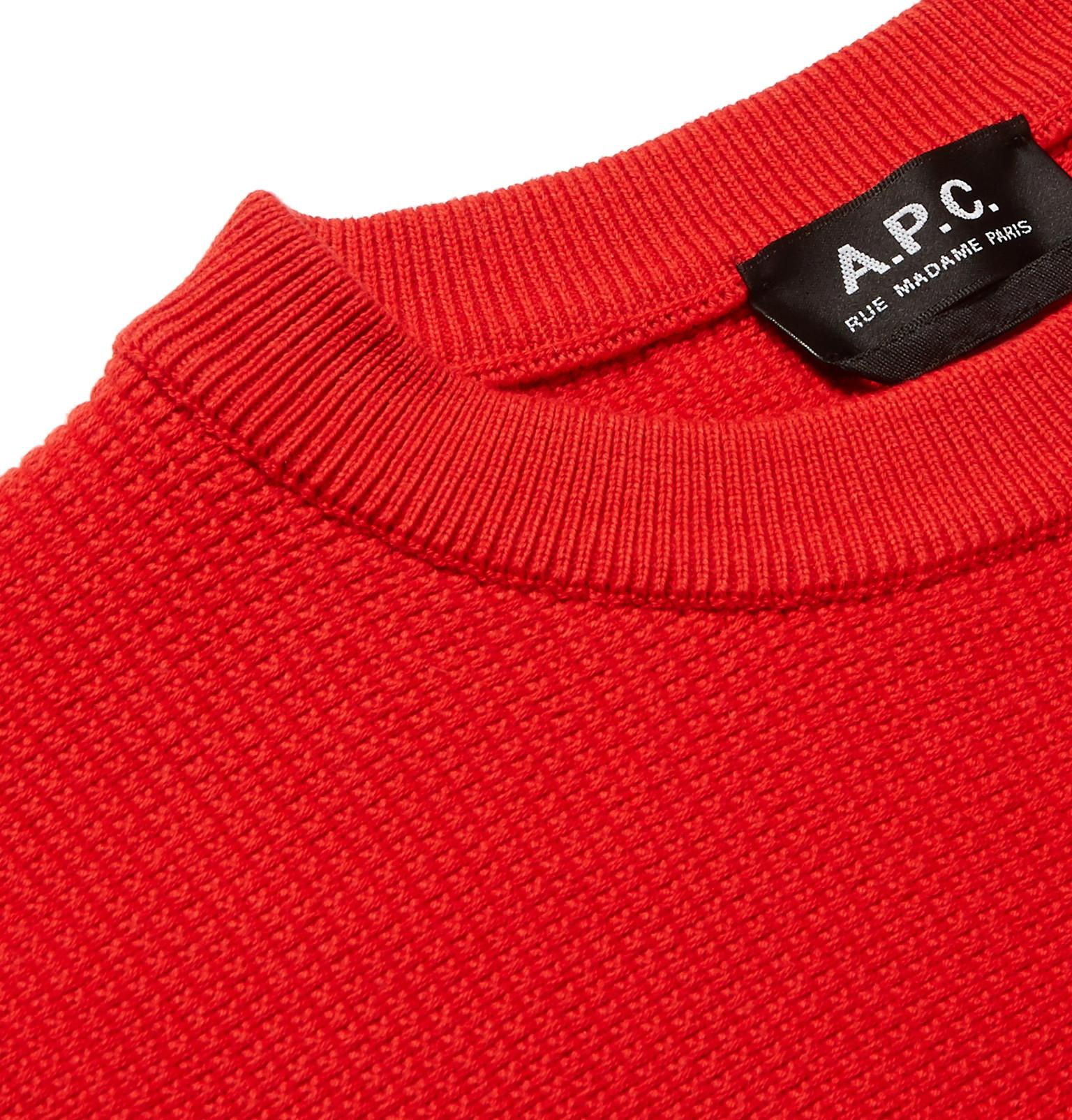 For In Textured Sweater p Red Men c Lyst Marvin Cotton A qH0zwz