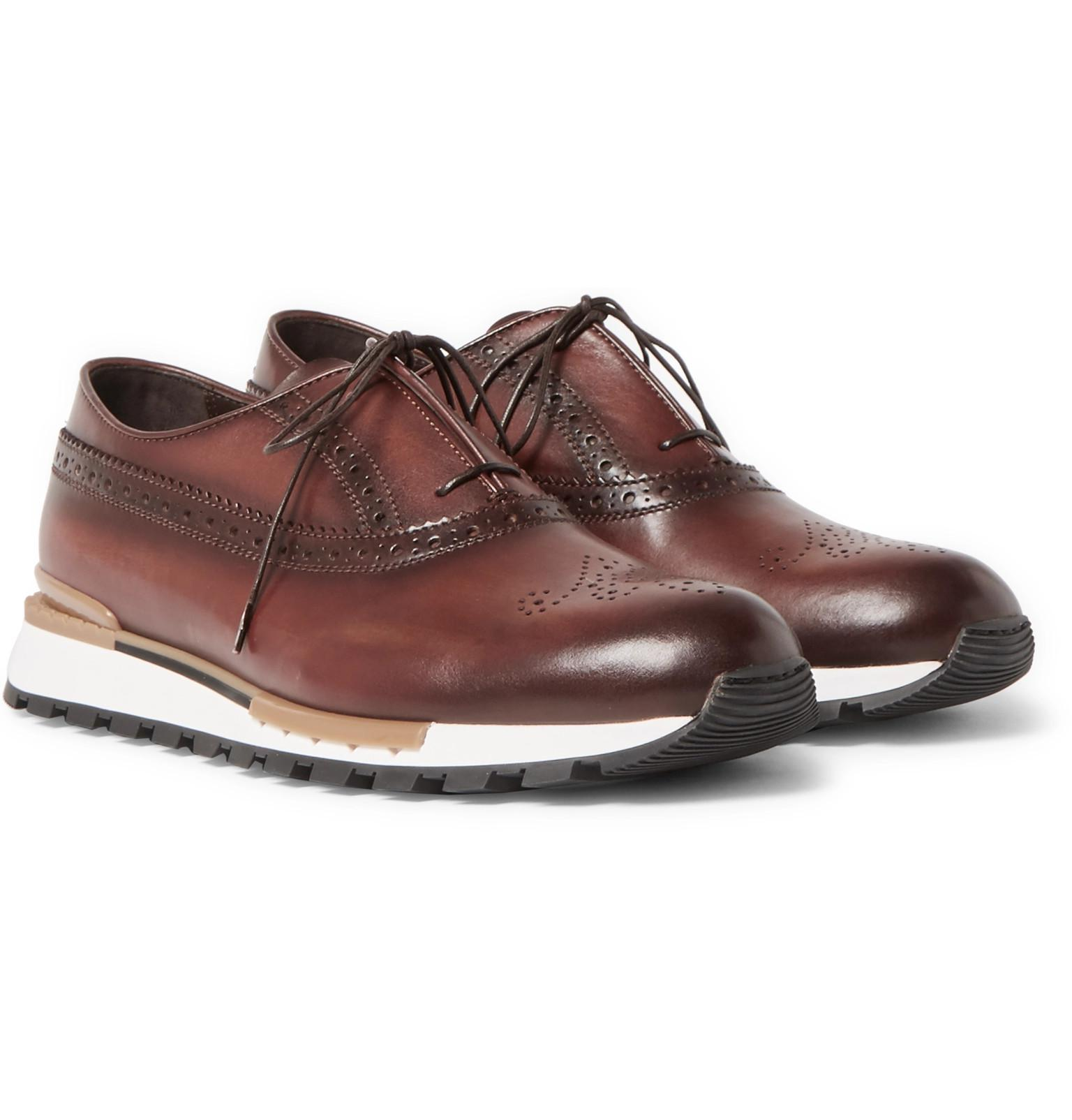 Fast Track Leather Sneakers Berluti Free Shipping With Paypal Outlet Finishline For Nice ufkfHqxy3