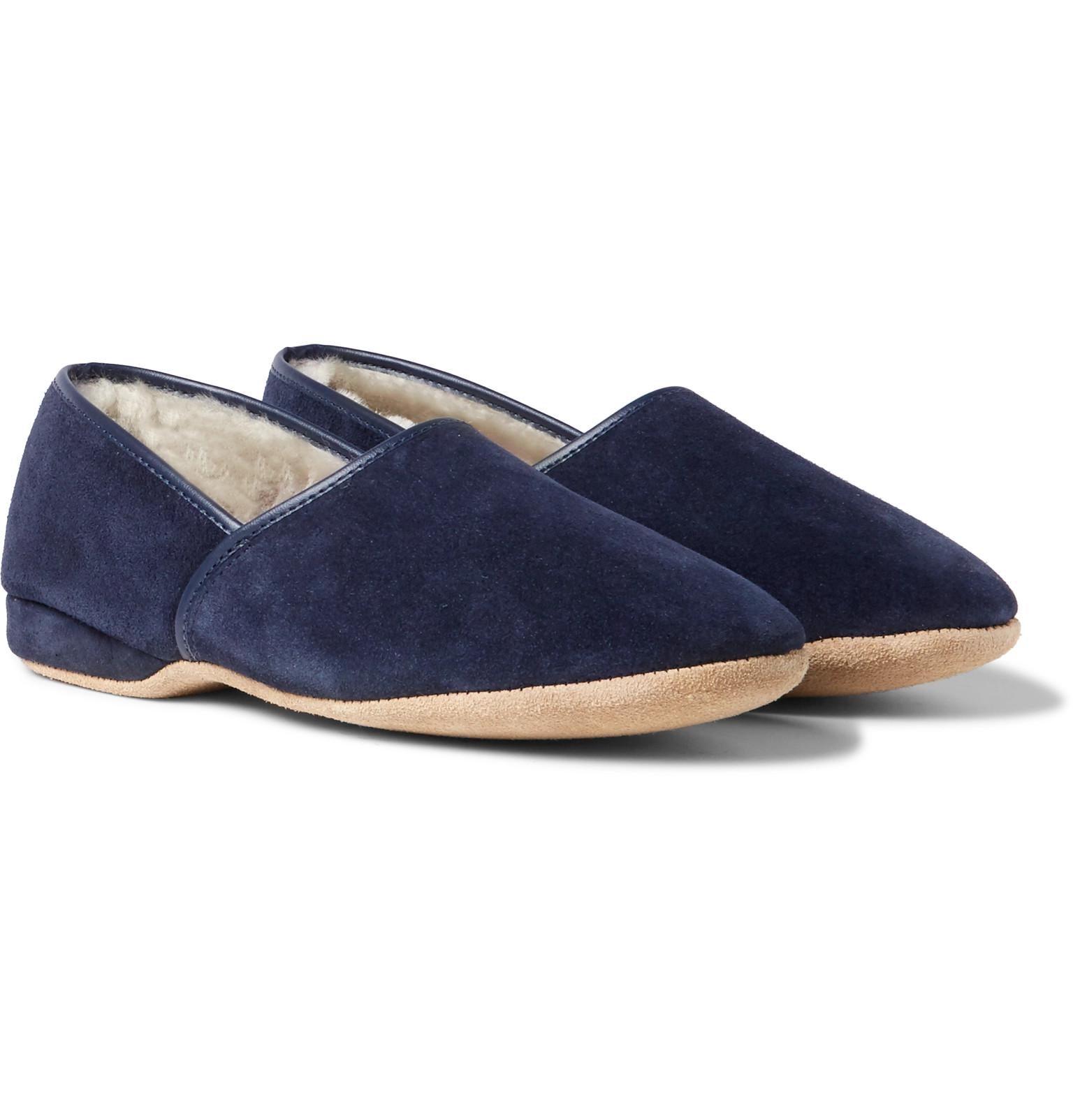 Crawford Shearling-lined Suede Slippers Derek Rose Latest Cheap Price Outlet Fast Delivery Pre Order bywERD