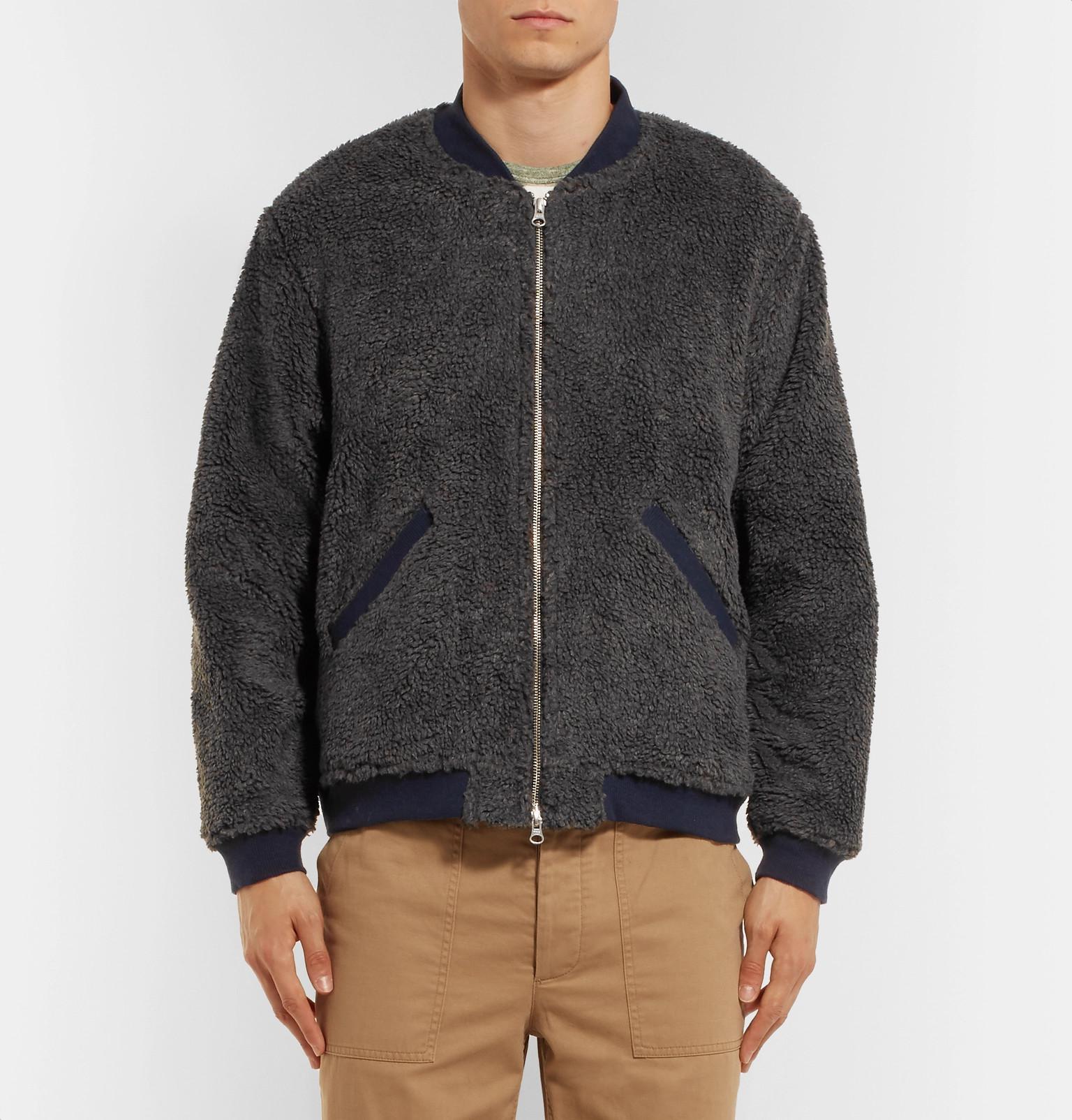 Men Gray In Fleece Bomber Chimala For Lyst Jacket nw4Y1xIq