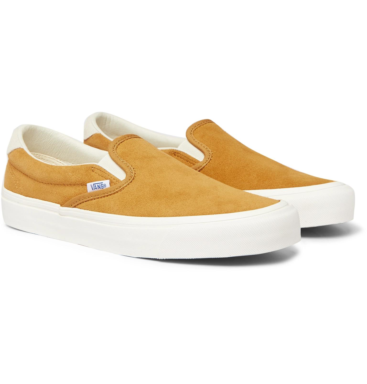 cc4882278090 Lyst - Vans Og 59 Lx Suede Slip-on Sneakers in Yellow for Men