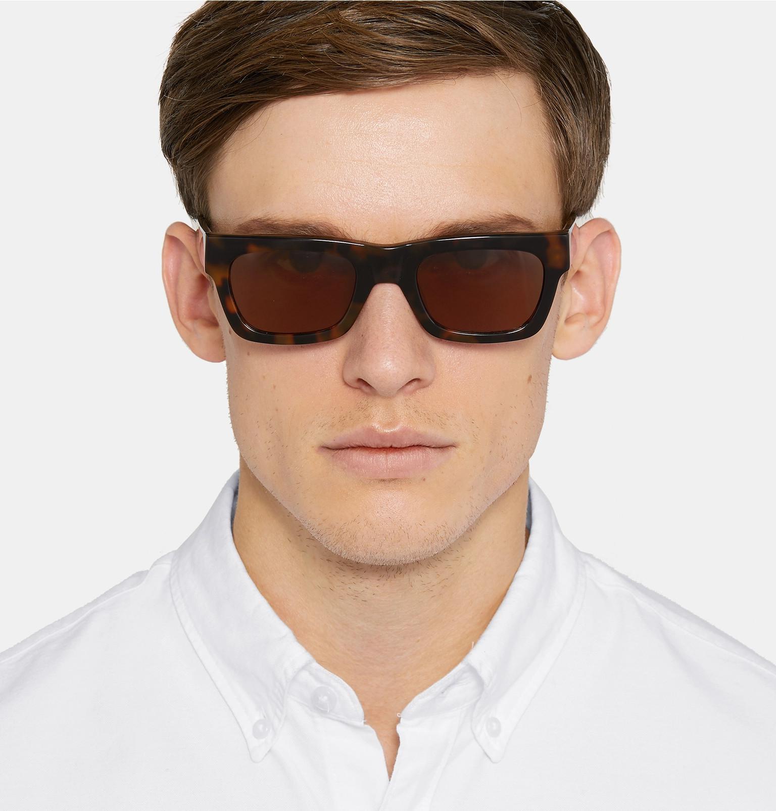 1690264cbf33 Sun Buddies Greta Square-frame Tortoiseshell Acetate Sunglasses in ...