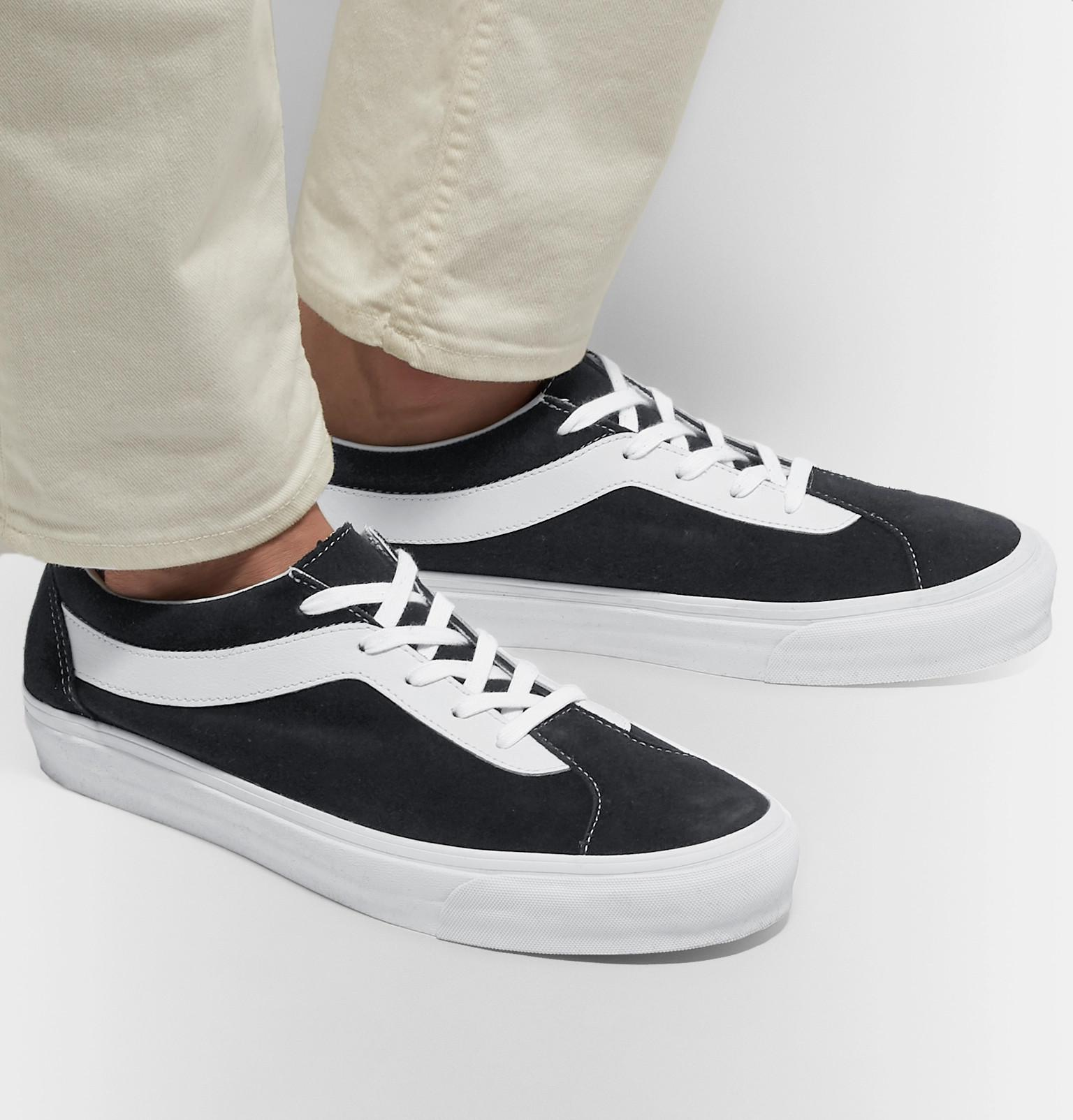 5ff317bf3227 Vans - Black Staple Bold Ni Suede And Leather Sneakers for Men - Lyst. View  fullscreen