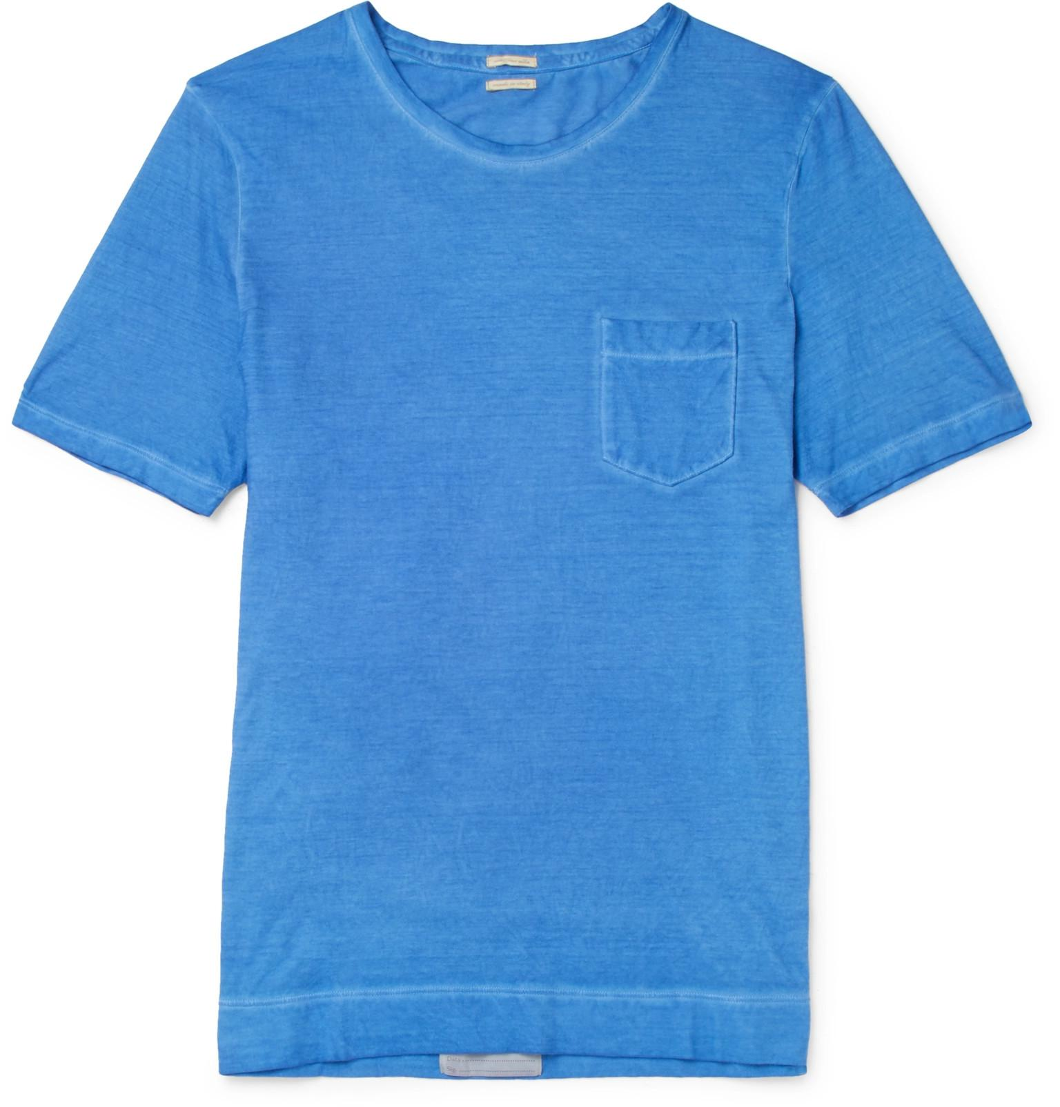 MASSIMO ALBA Panarea Garment-dyed Cotton-jersey T-shirt - Blue