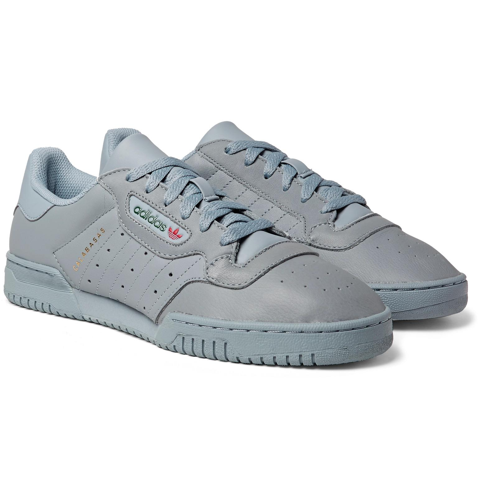 on sale fada4 bbfa6 adidas Originals Yeezy Powerphase Calabasas Leather Sneakers in Gray ...