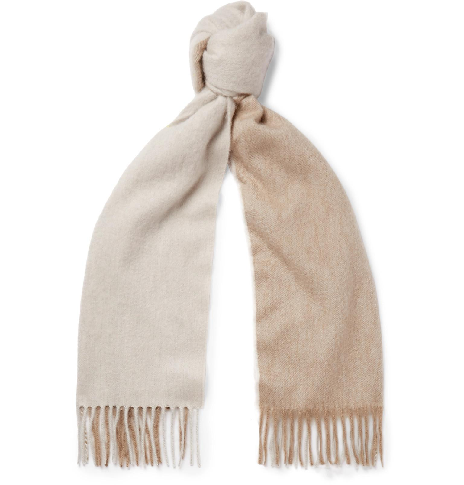 55701a93f80 Lyst - Begg   Co Arran Two-tone Fringed Cashmere Scarf for Men