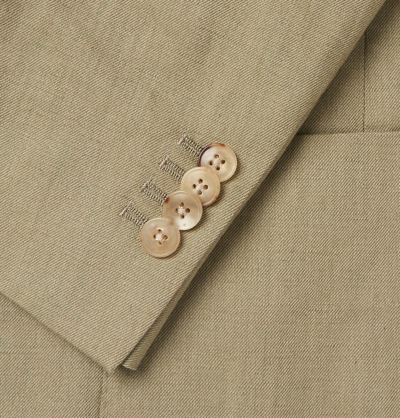 the latest c8e3d 4e411 Boglioli Olive Linen And Cotton-blend Twill Blazer in Green for Men ...